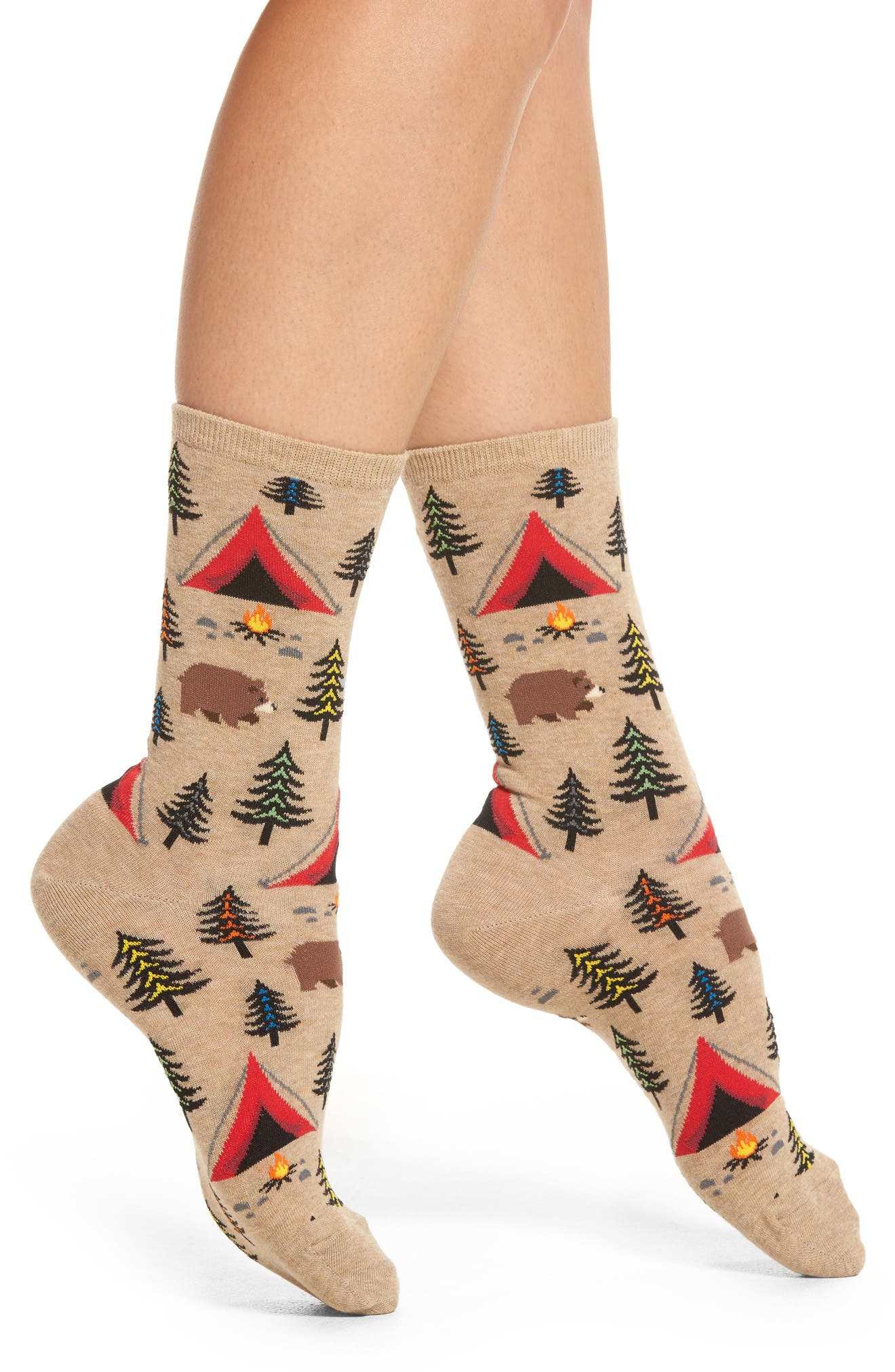 Bear Tent Socks,                         Main,                         color, Hemp Heather