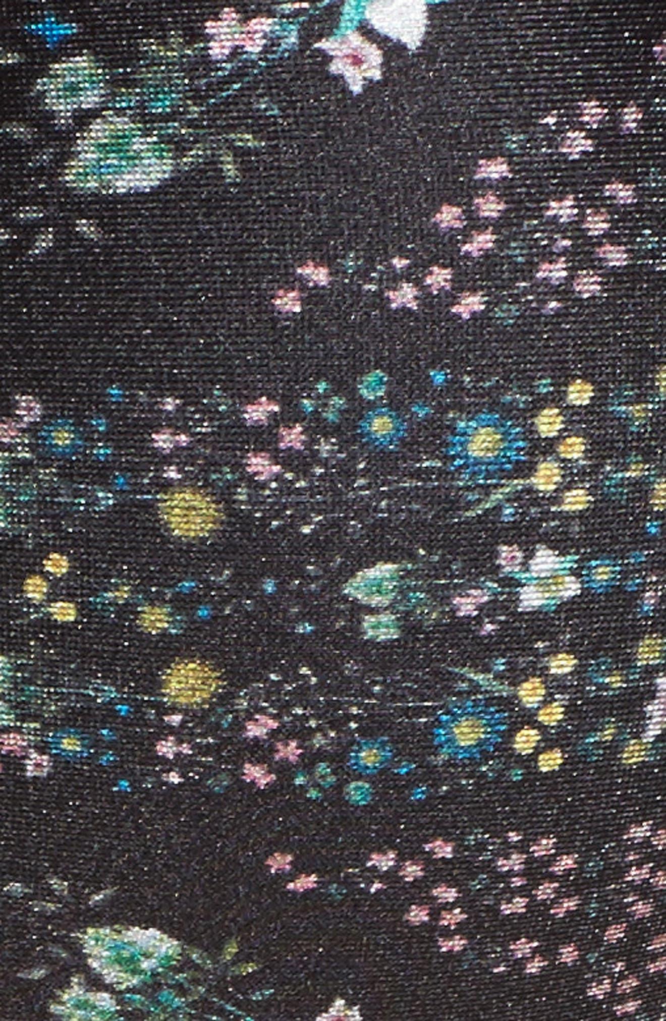 Unity Floral Halter Bikini Top,                             Alternate thumbnail 5, color,                             Black