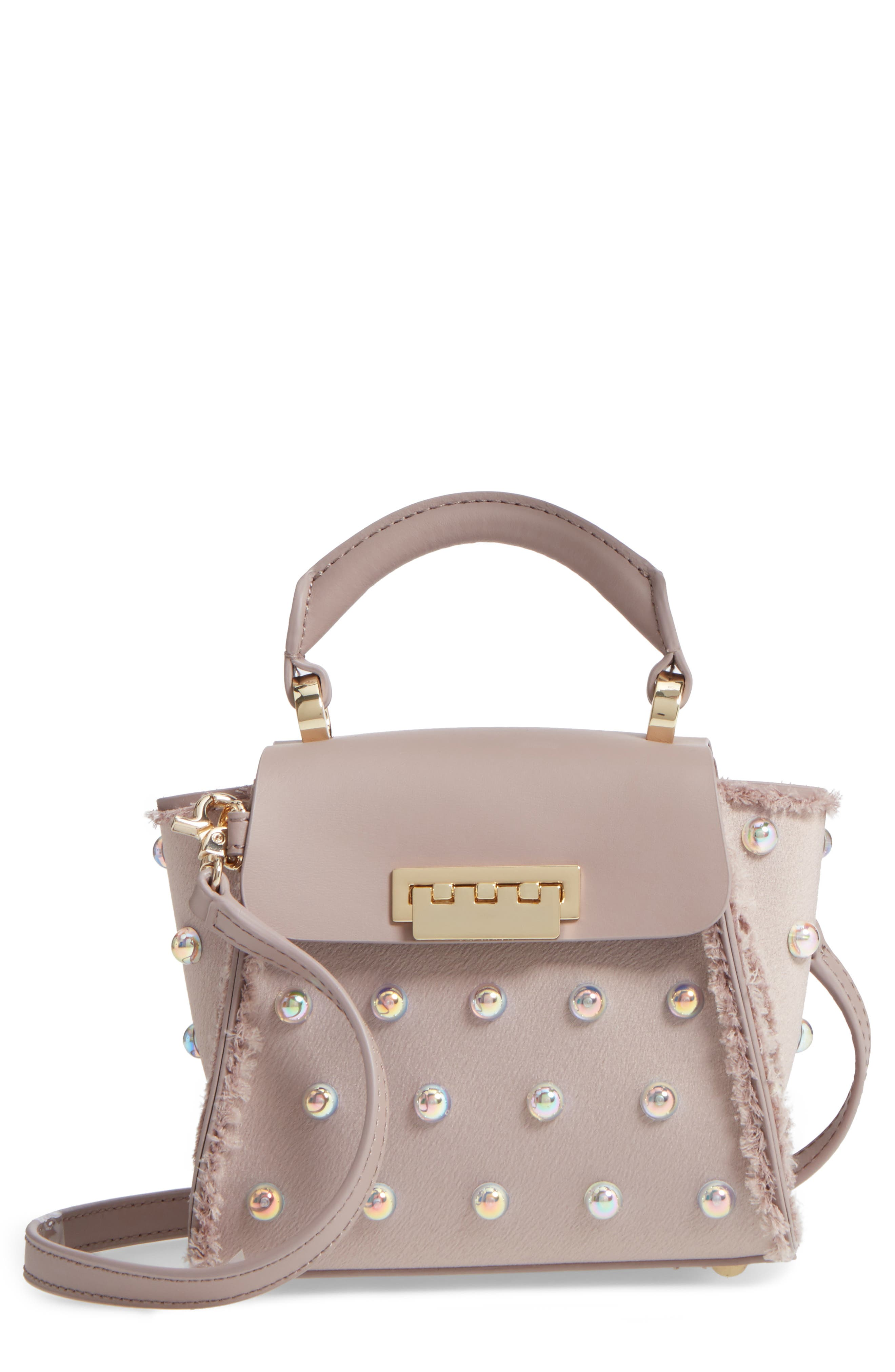 Main Image - ZAC Zac Posen Mini Eartha Embellished Top Handle Calfskin Leather Satchel