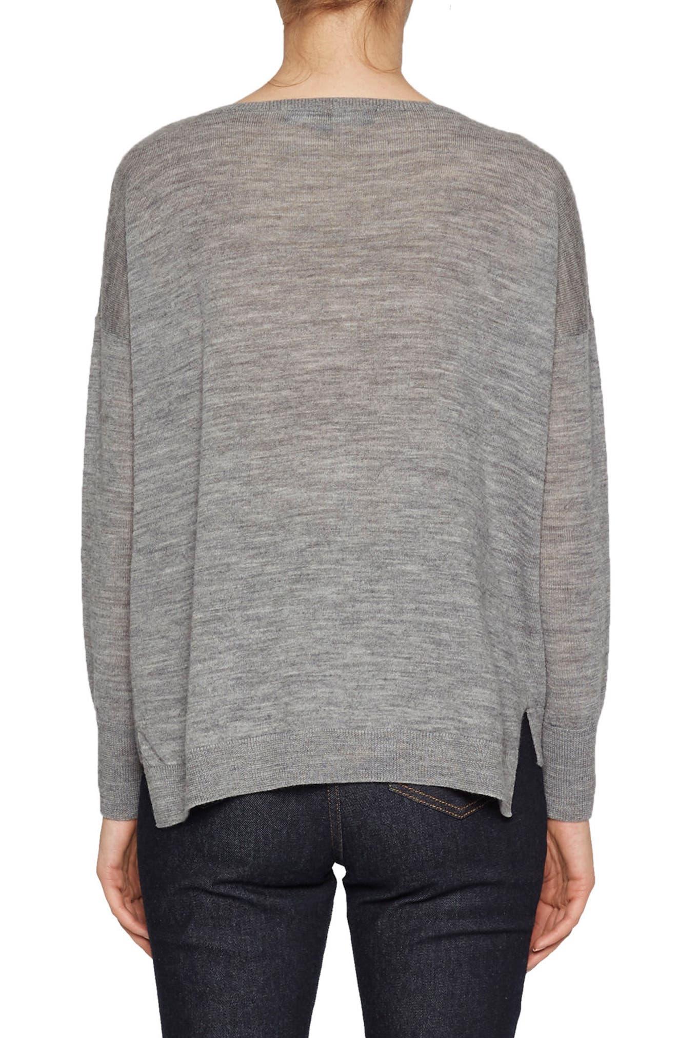 Otis Intarsia Sweater,                             Alternate thumbnail 3, color,                             Mid Grey Multi