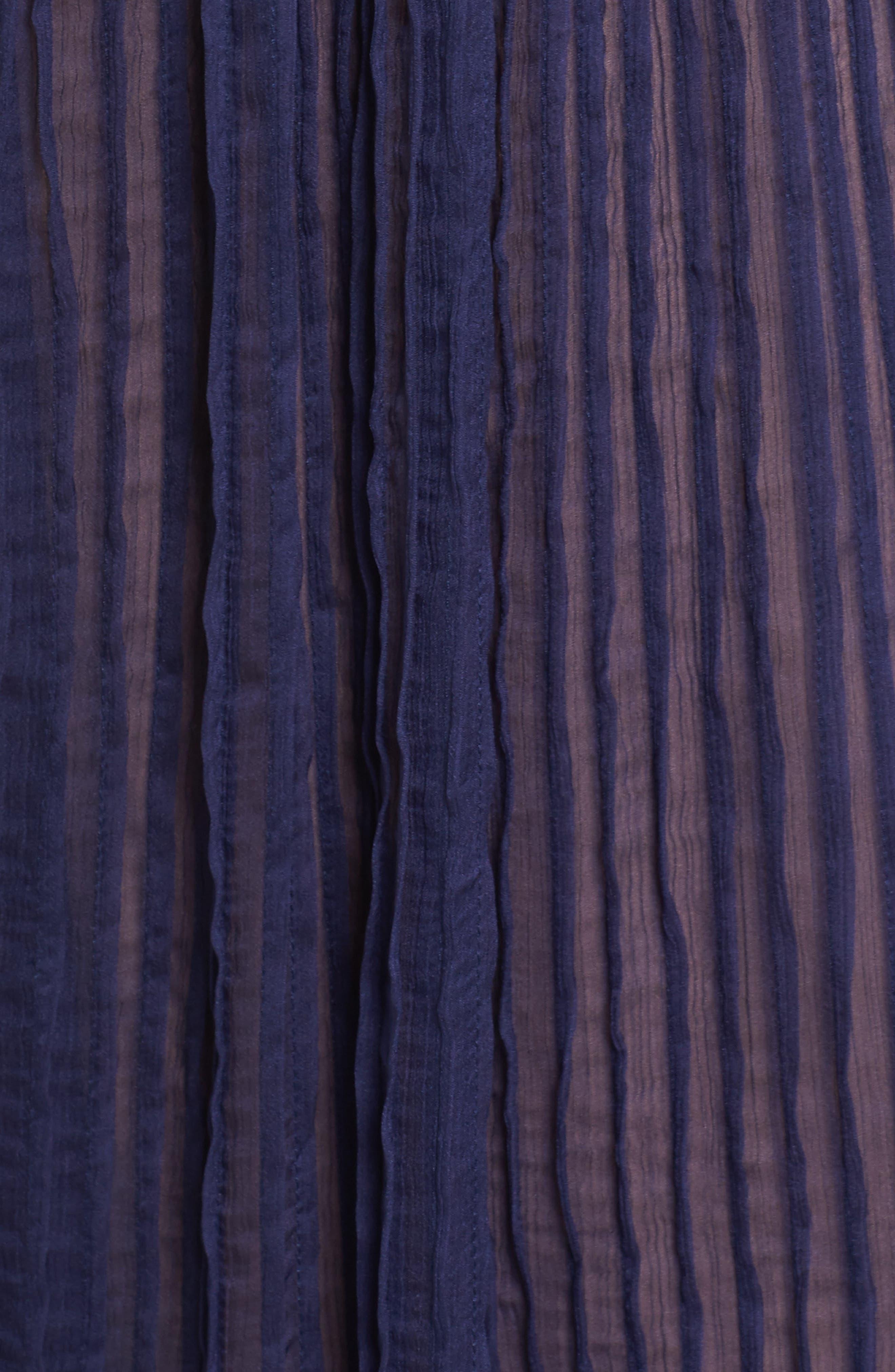 Alternate Image 5  - Tadashi Shoji Mixed Media A-Line Gown