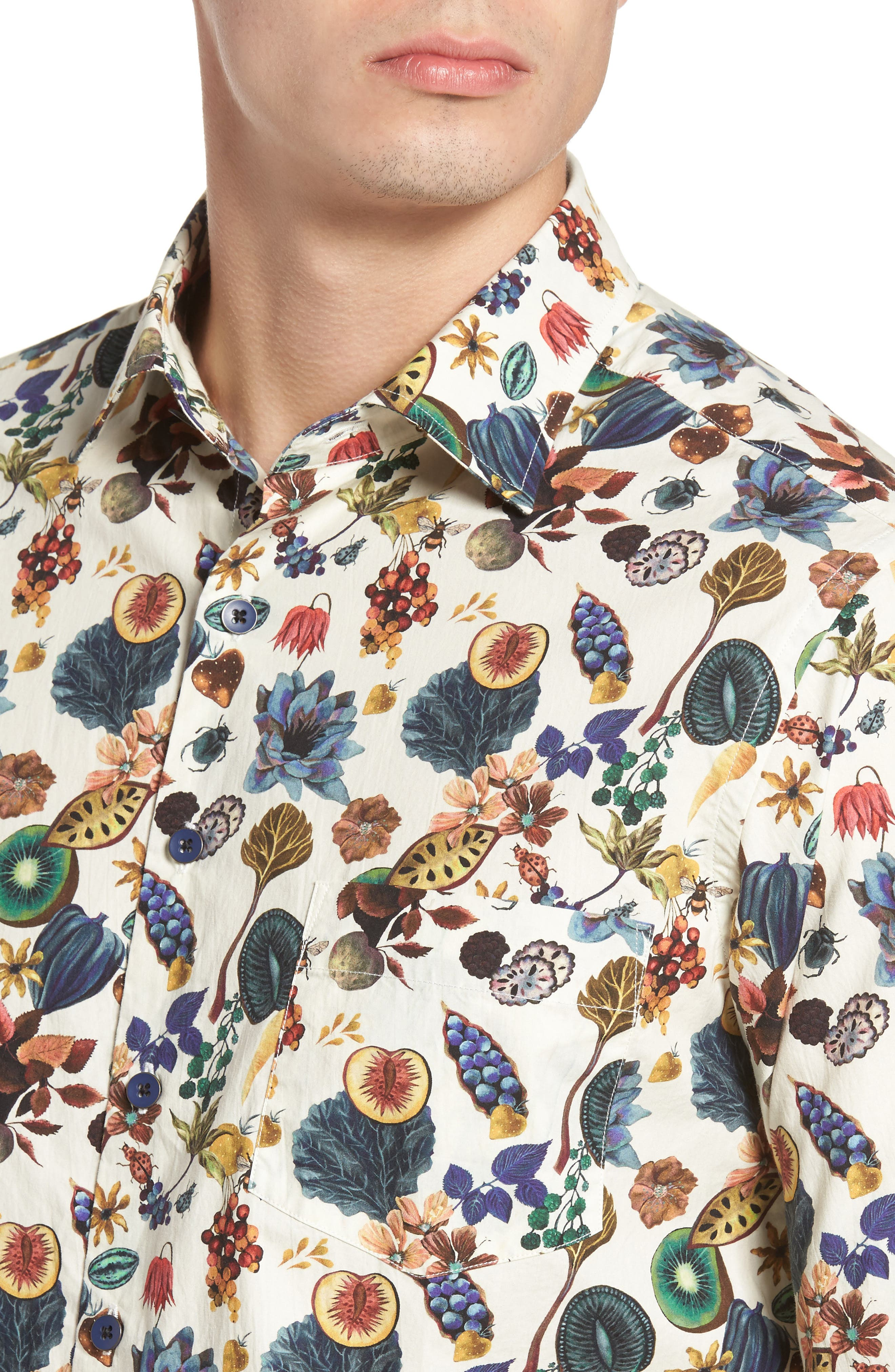 Aldamere Sports Fit Sport Shirt,                             Alternate thumbnail 4, color,                             Botanical