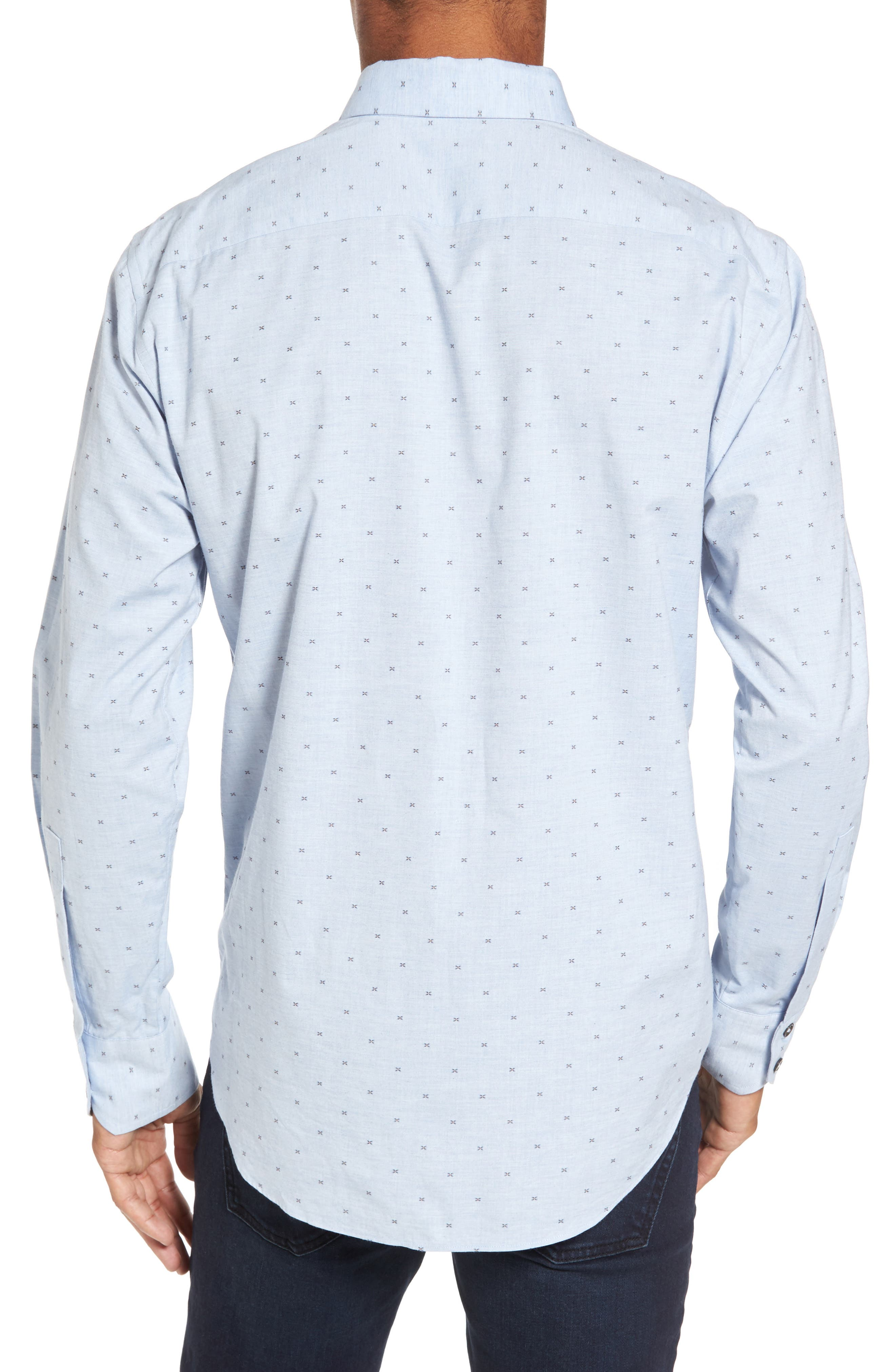 Caffoe Slim Fit Dobby Sport Shirt,                             Alternate thumbnail 2, color,                             Blue