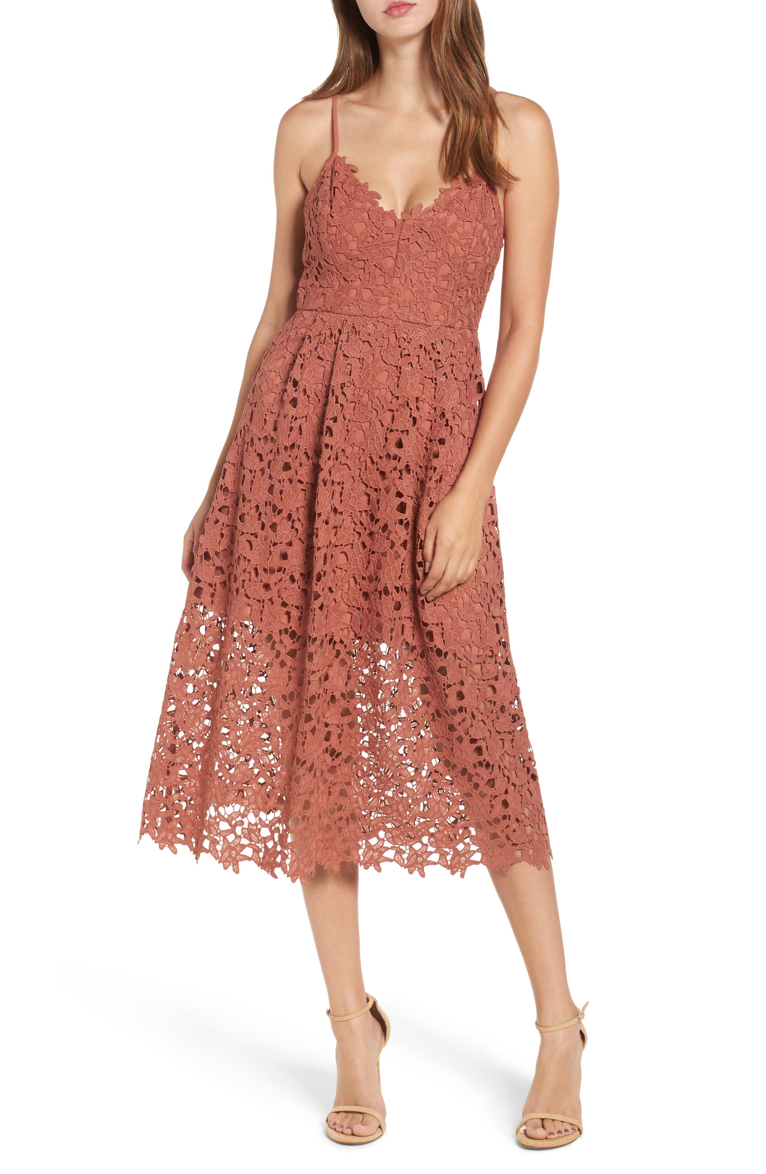 Main Image - ASTR the Label Lace Midi Dress