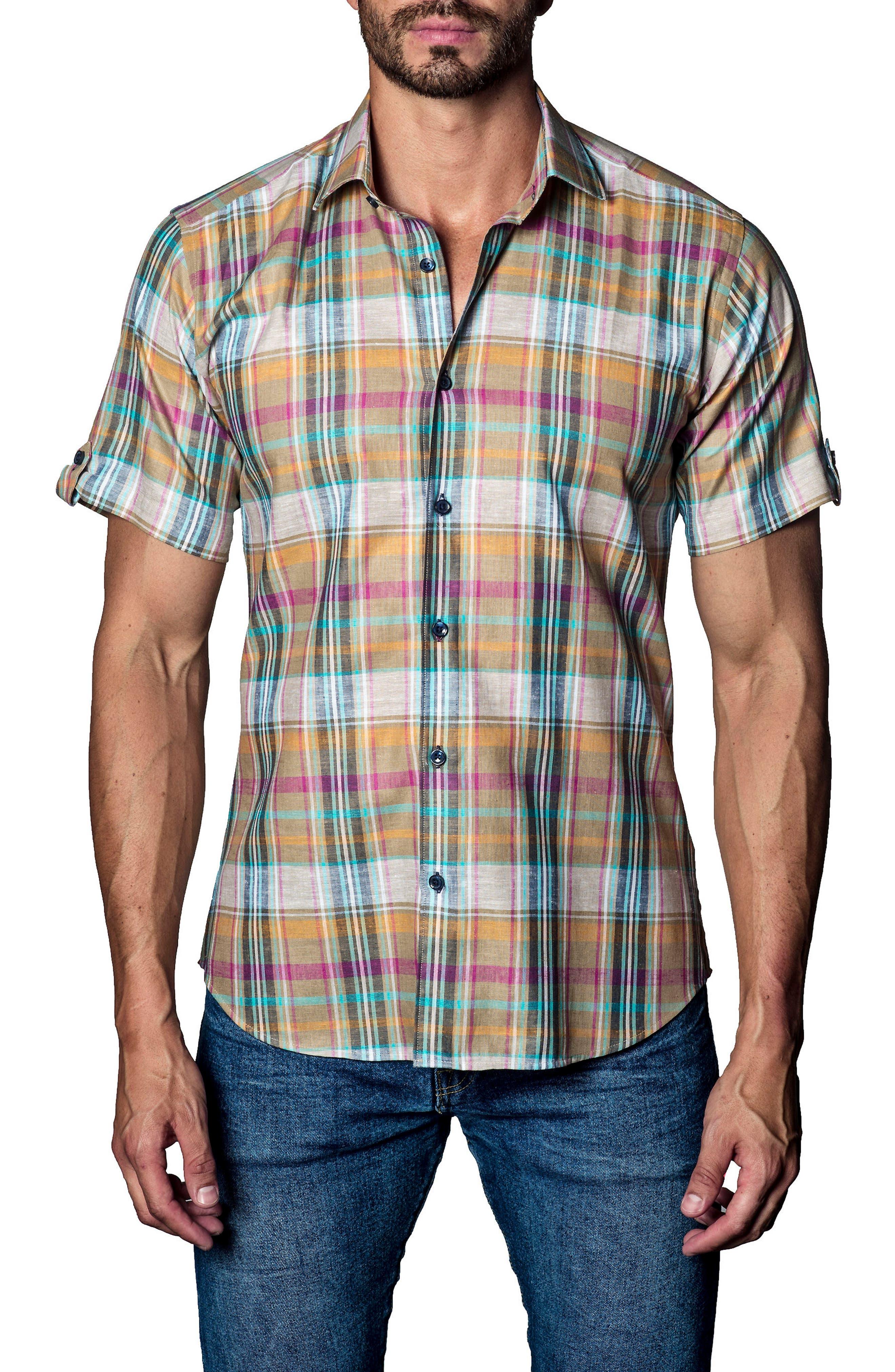 Jared Lang Plaid Sport Shirt
