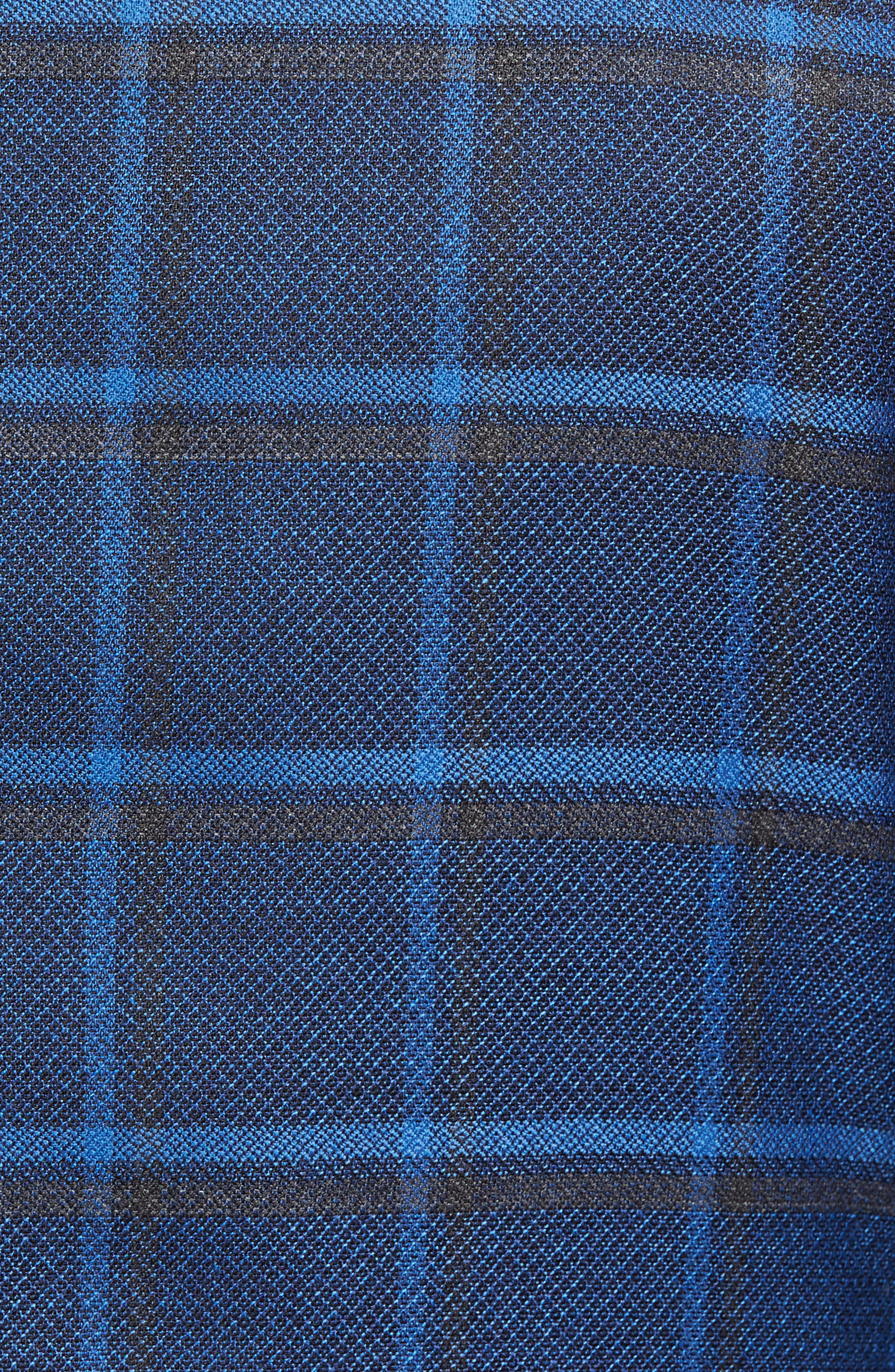 Alternate Image 5  - David Donahue Connor Classic Fit Plaid Sport Coat
