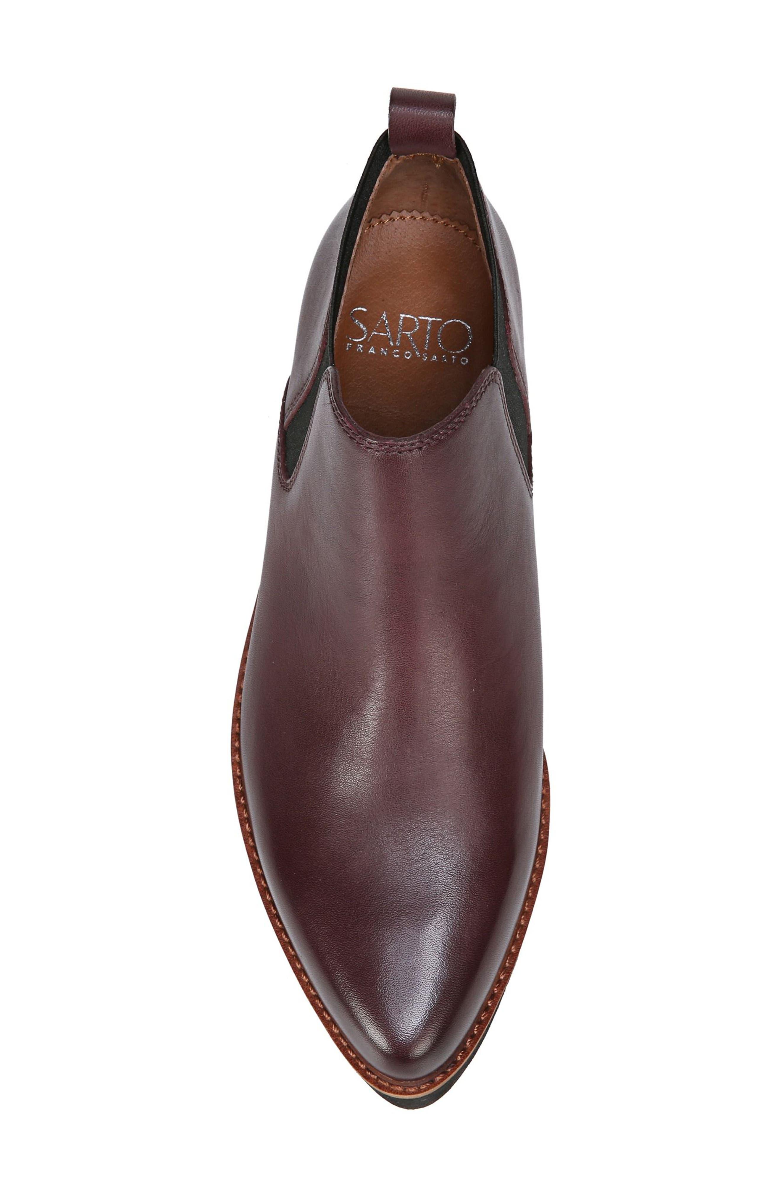 Bringham Bootie,                             Alternate thumbnail 5, color,                             Dark Burgundy Leather