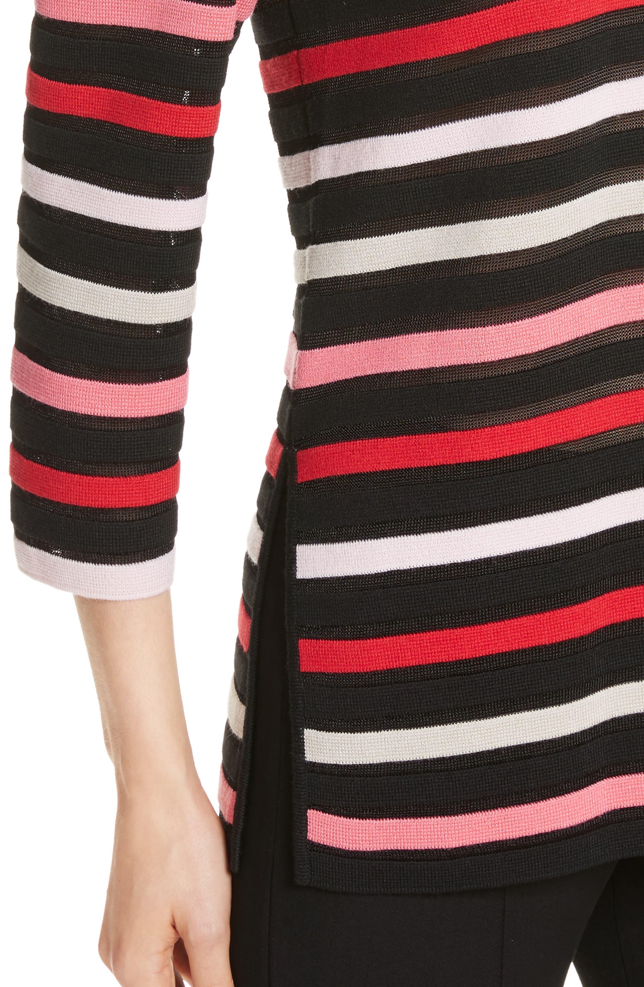 Alternate Image 4  - St. John Collection Ombré Stripe Sweater