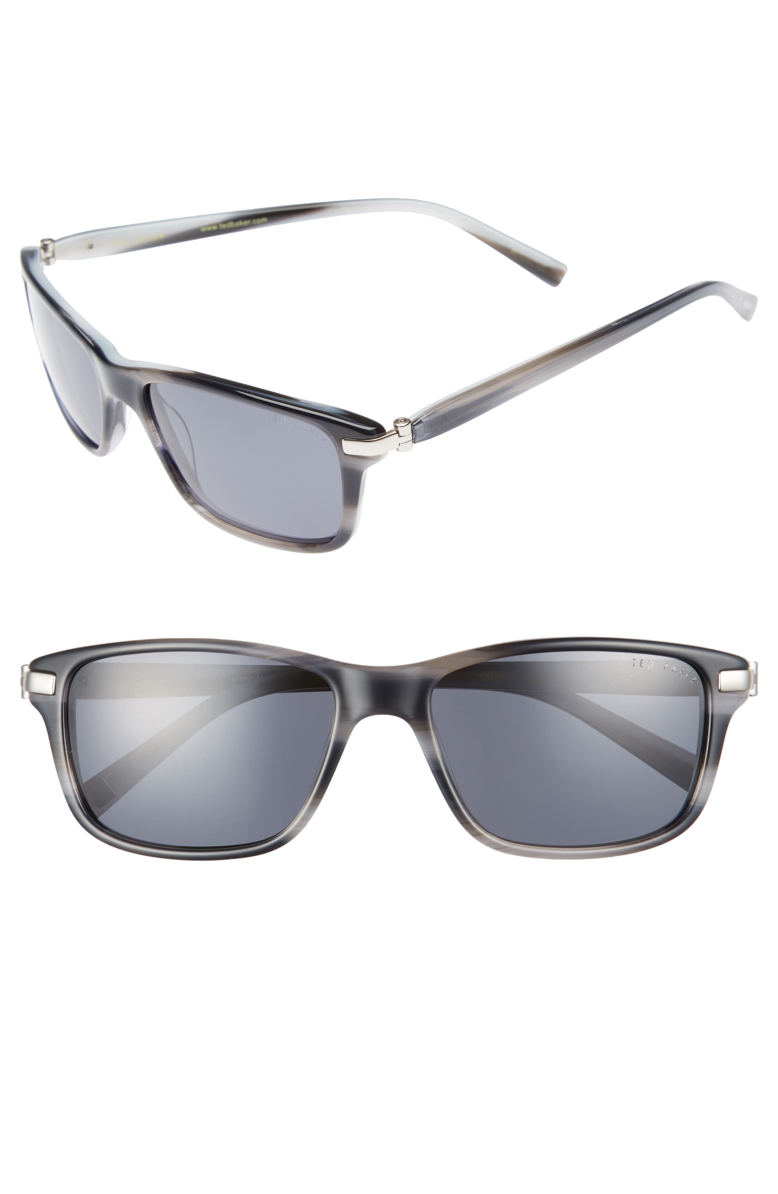 55mm Polarized Sunglasses,                             Main thumbnail 1, color,                             Grey