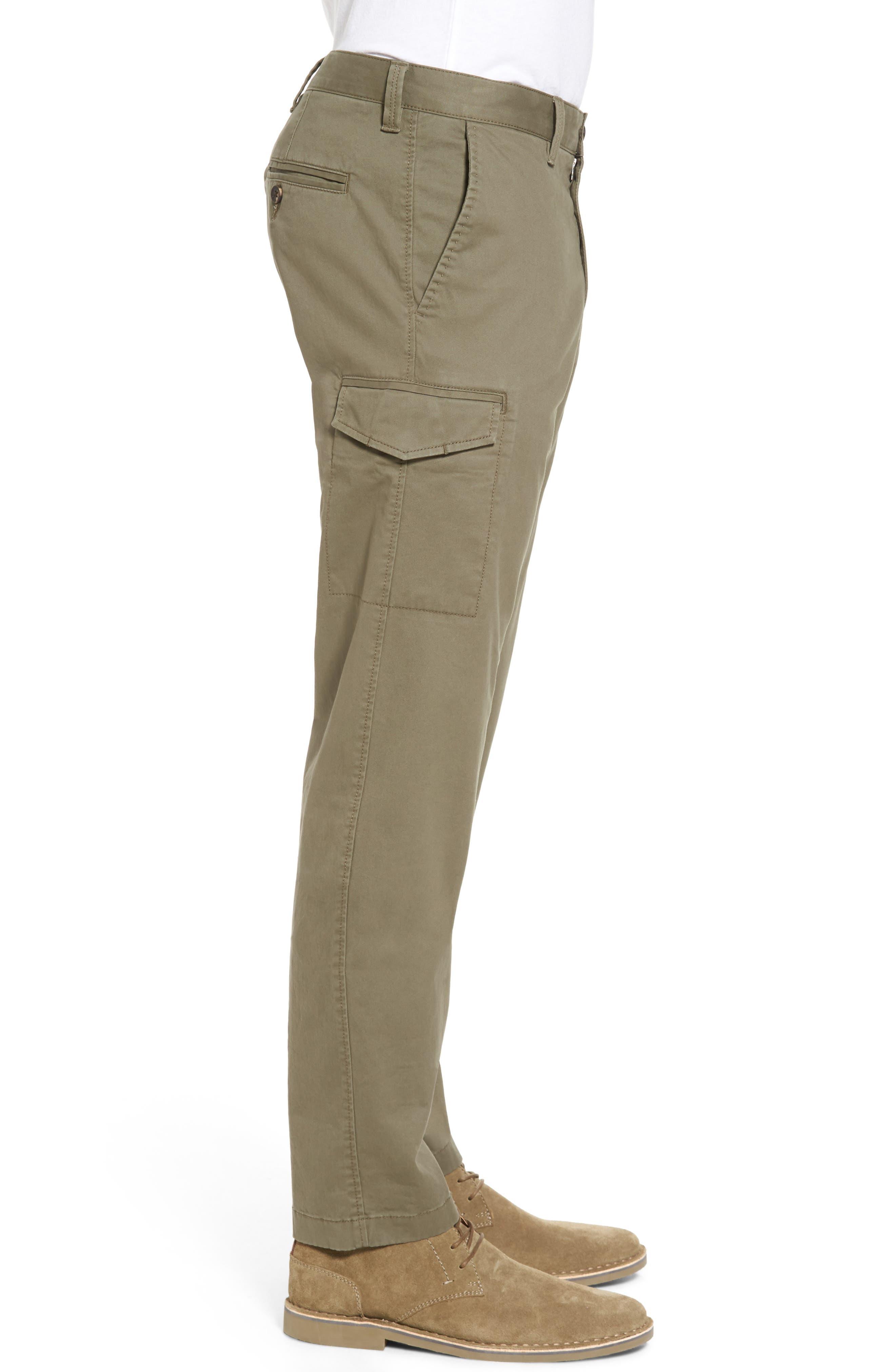 Regular Fit Cargo Pants,                             Alternate thumbnail 3, color,                             Olive Grove