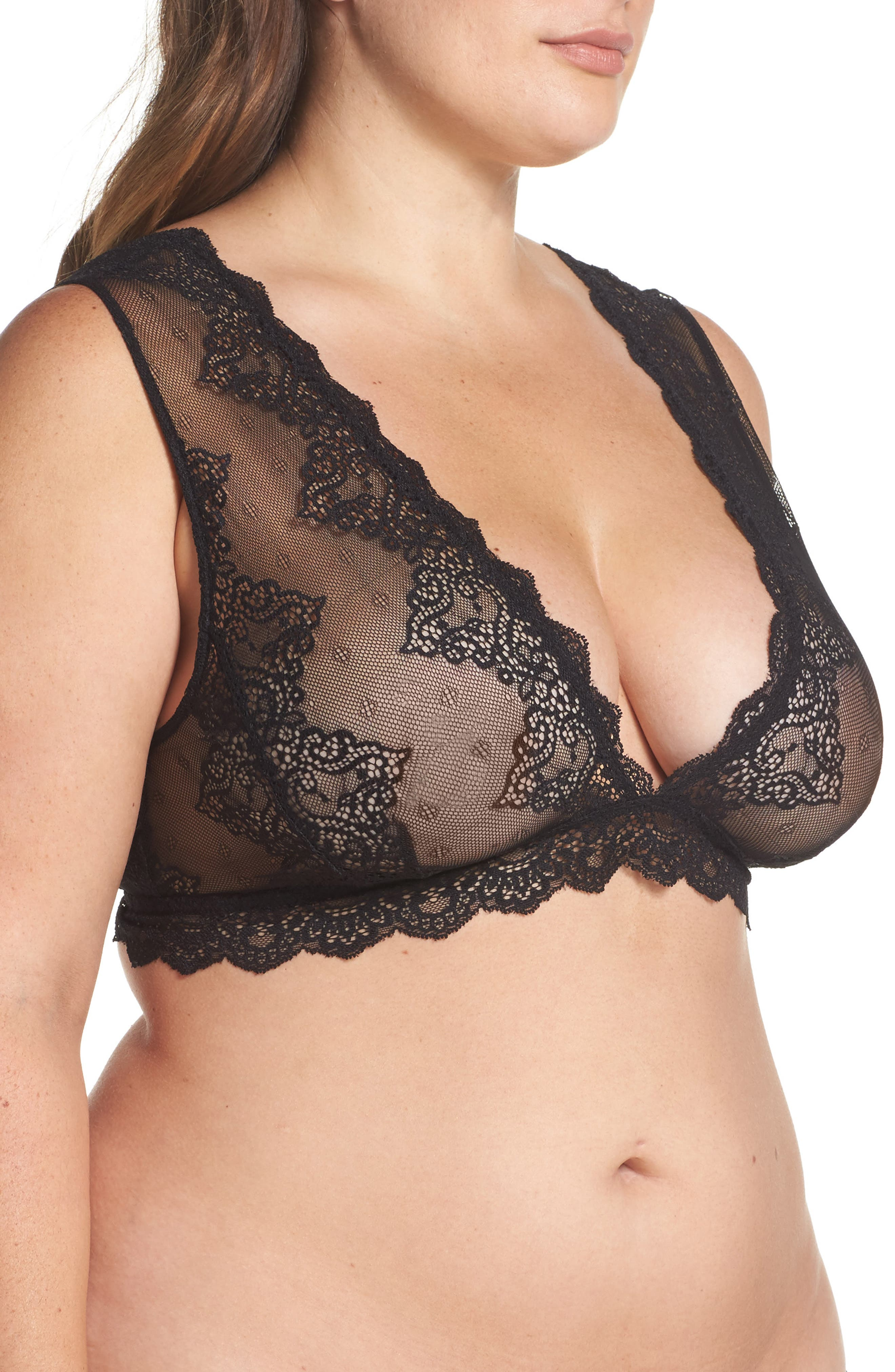 Alternate Image 3  - Only Hearts So Fine Lace Bralette (Plus Size)