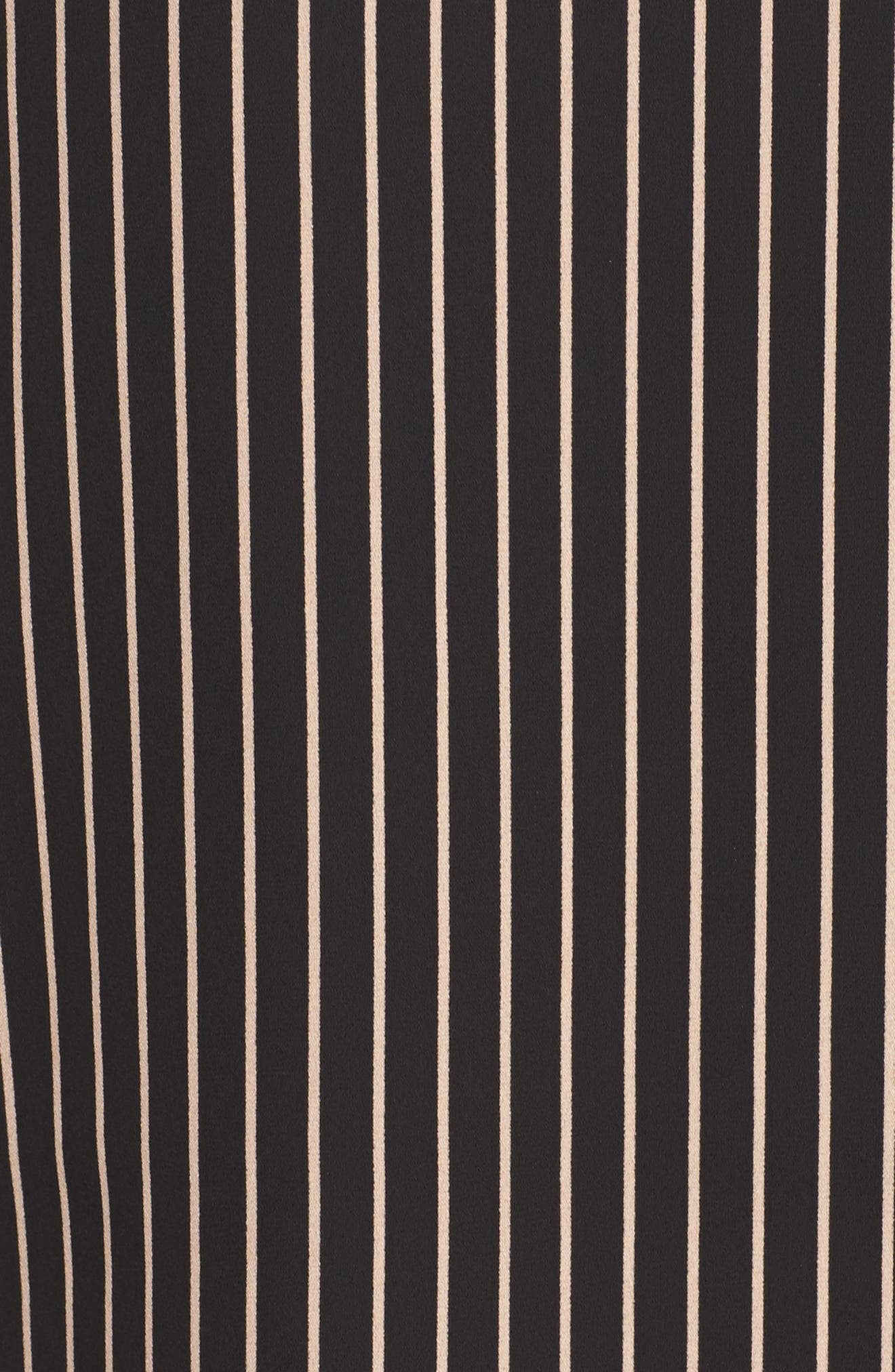 She-E-O Shift Dress,                             Alternate thumbnail 5, color,                             Black/ Tan Stripe