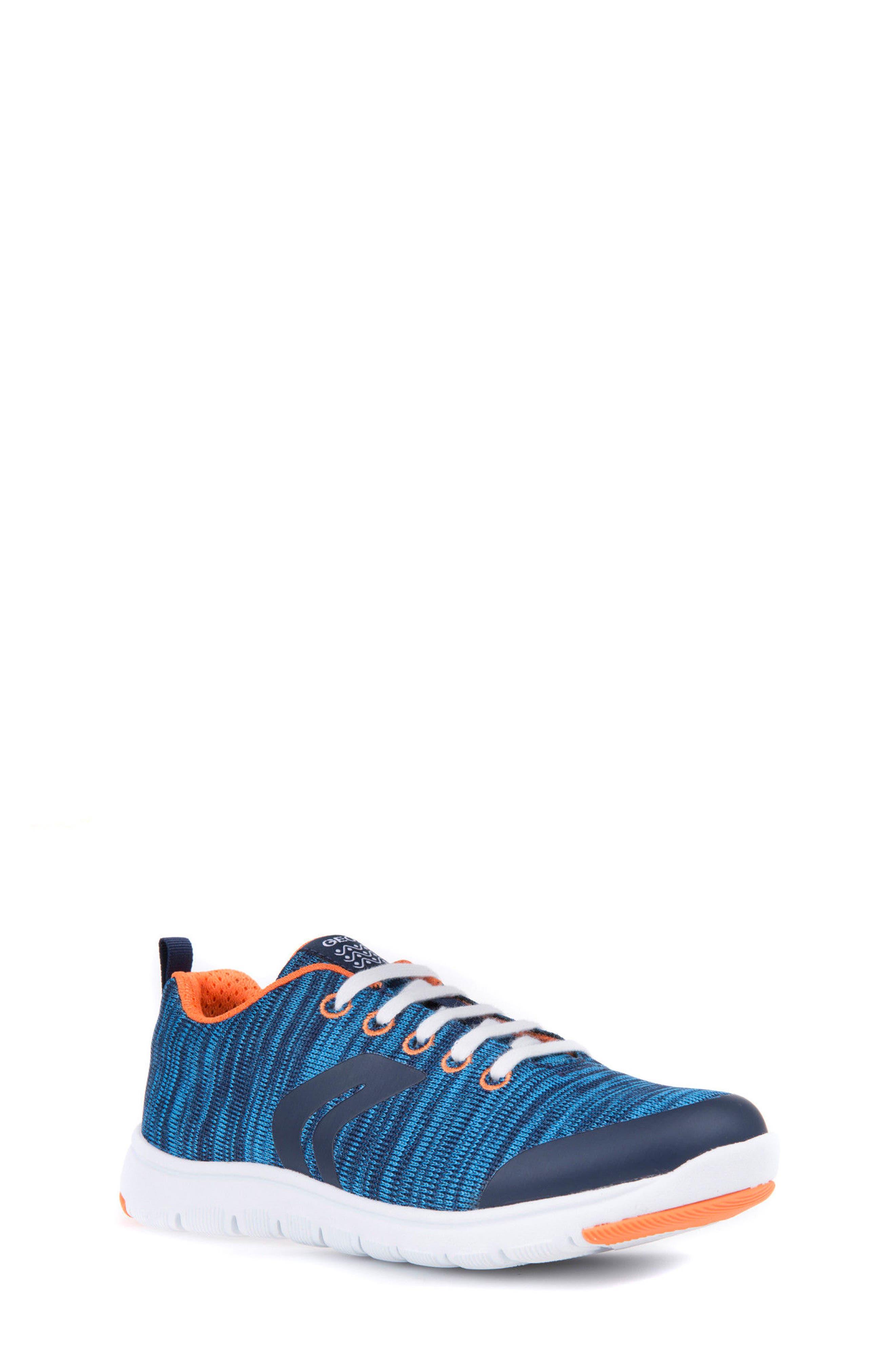 Geox Xunday Performance Knit Low Top Sneaker (Toddler, Little Kid & Big Kid)