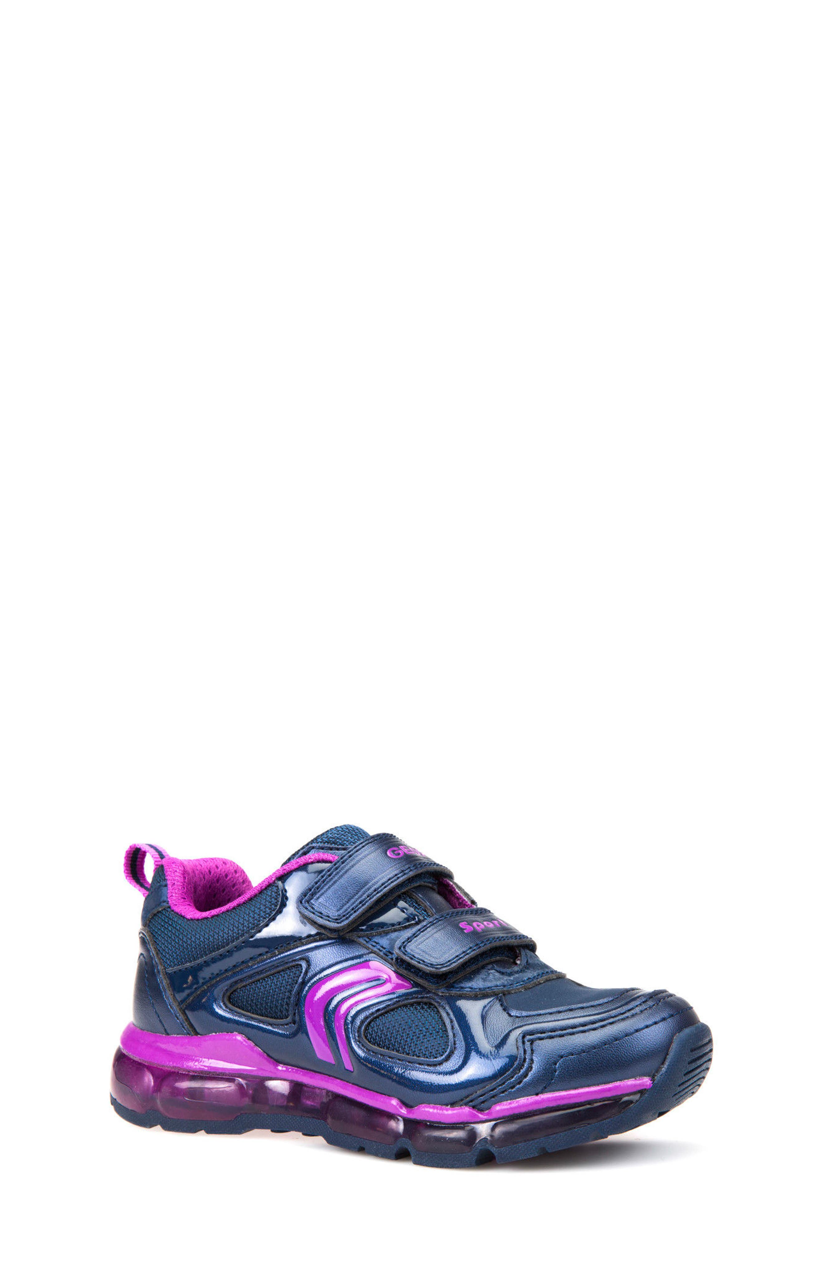'Jr Android 2' Light-Up Sneaker,                             Main thumbnail 1, color,                             Navy/ Purple