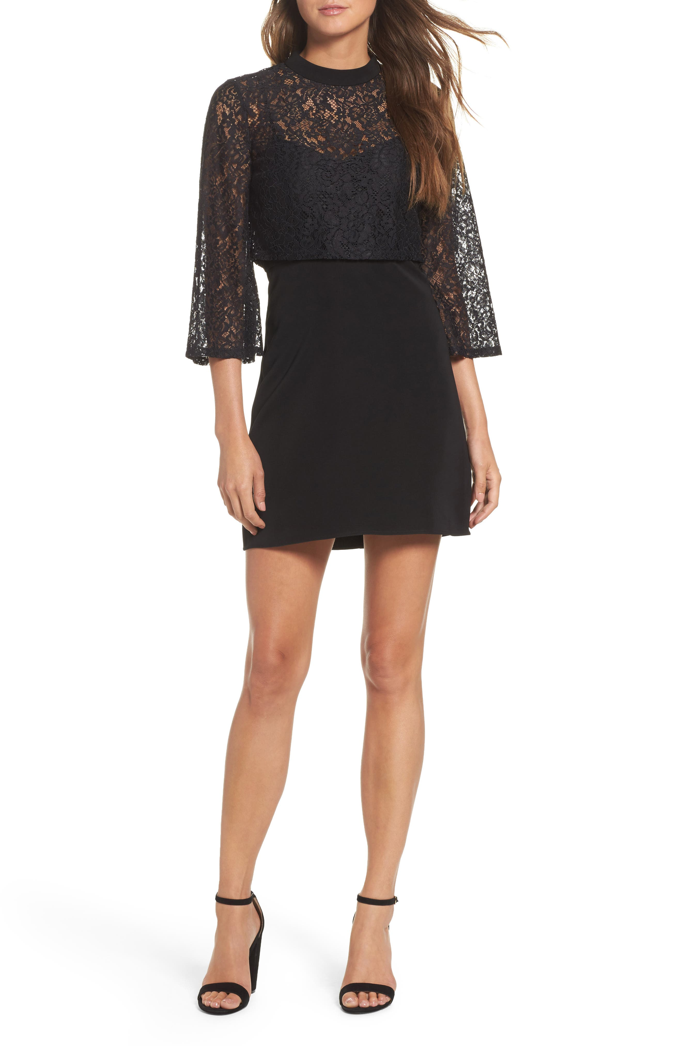 Ali & Jay Dim All The Lights Lace Minidress