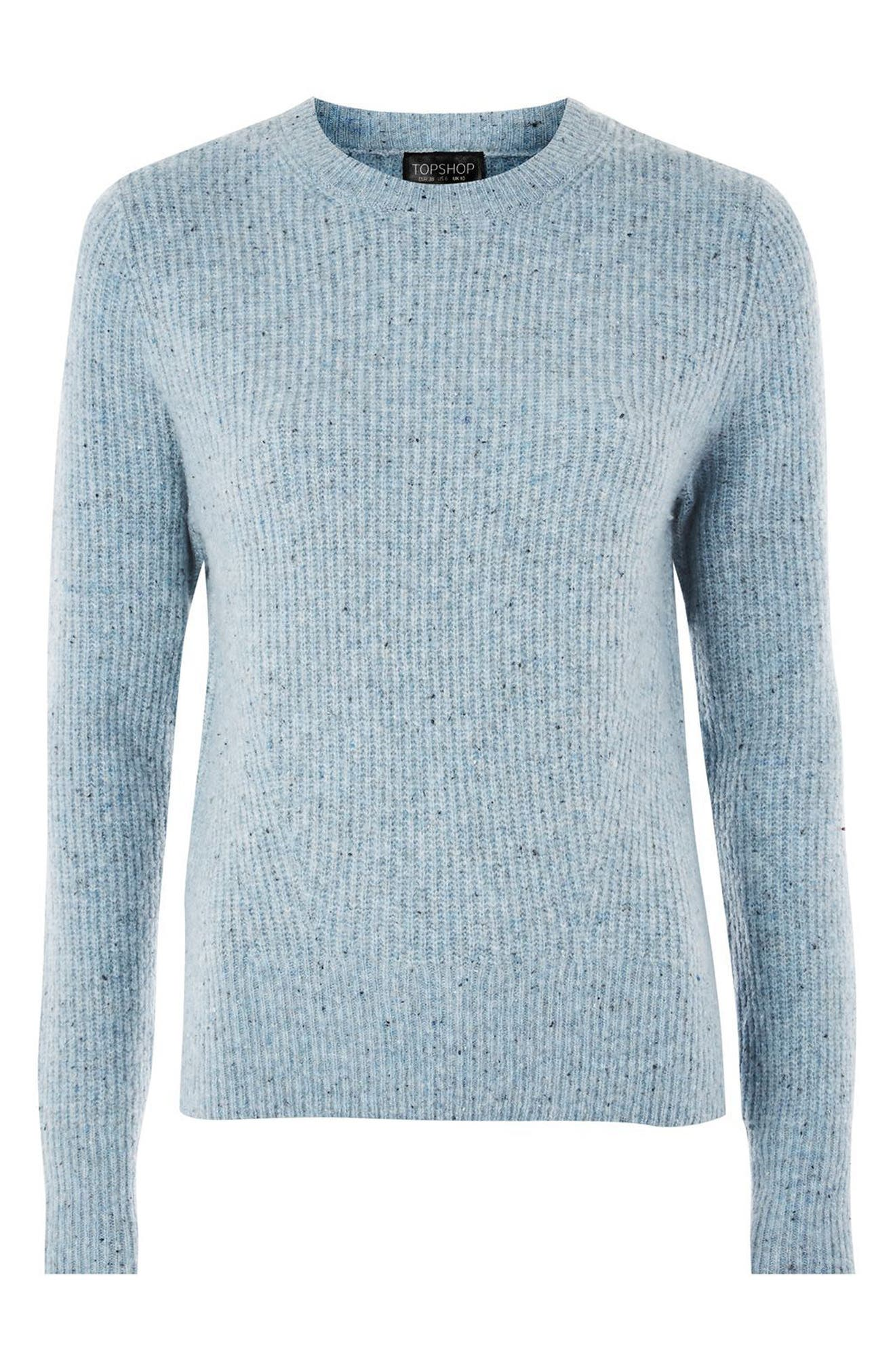 Alternate Image 3  - Topshop Ribbed Crewneck Sweater