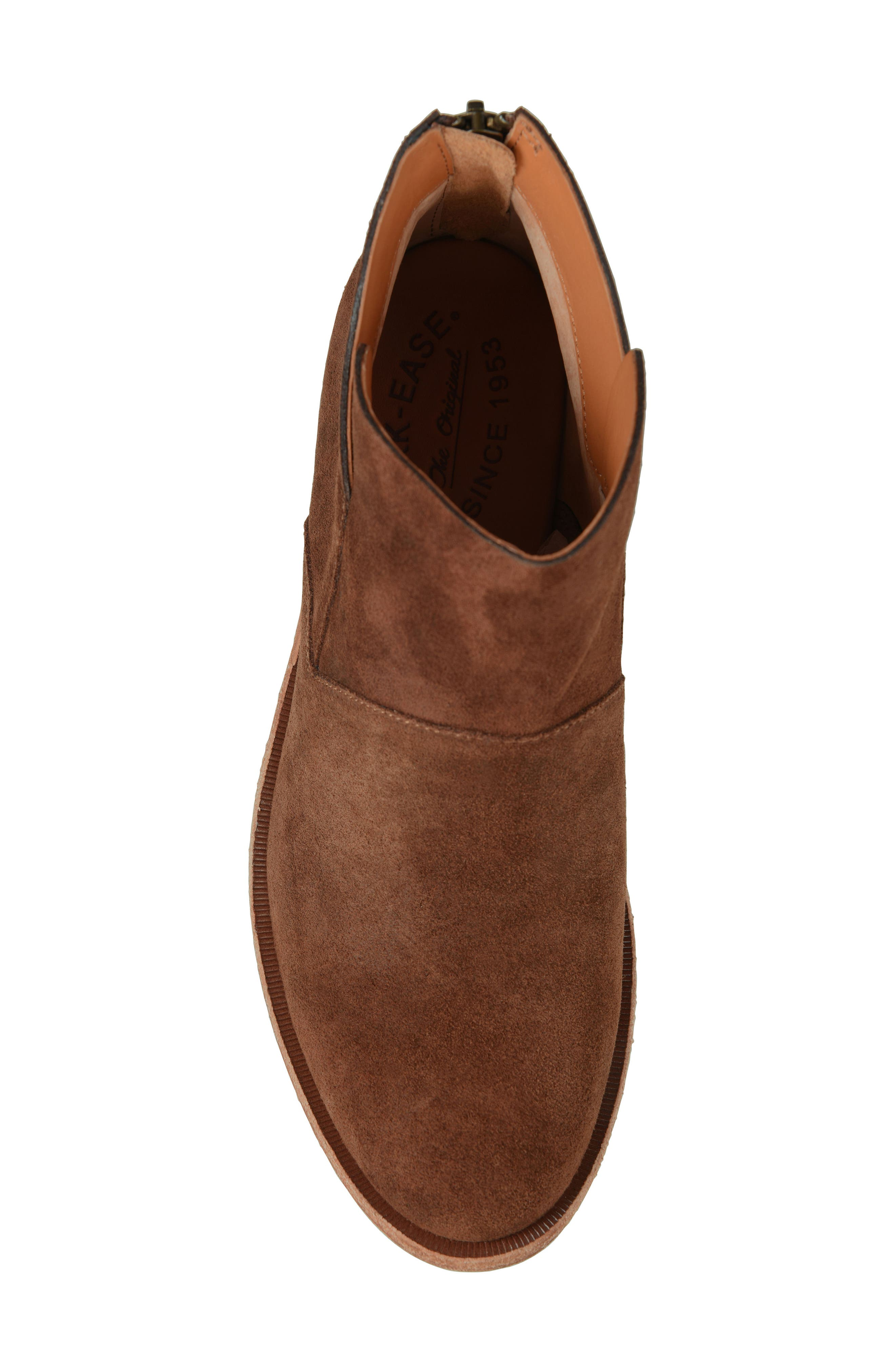 Ryder Ankle Boot,                             Alternate thumbnail 5, color,                             Rust Suede