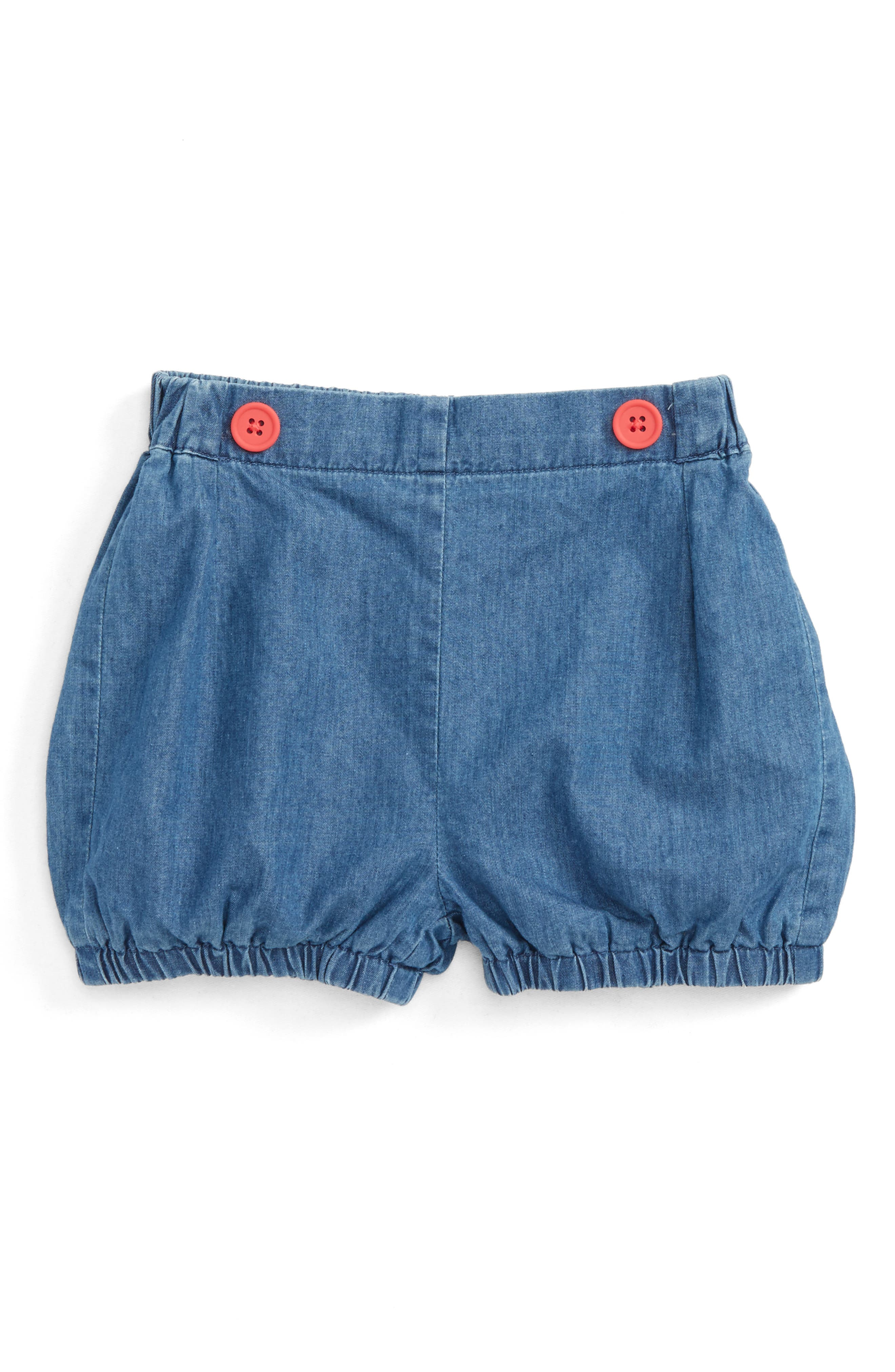 Main Image - Mini Boden Pretty Chambray Bloomers (Baby Girls & Toddler Girls)