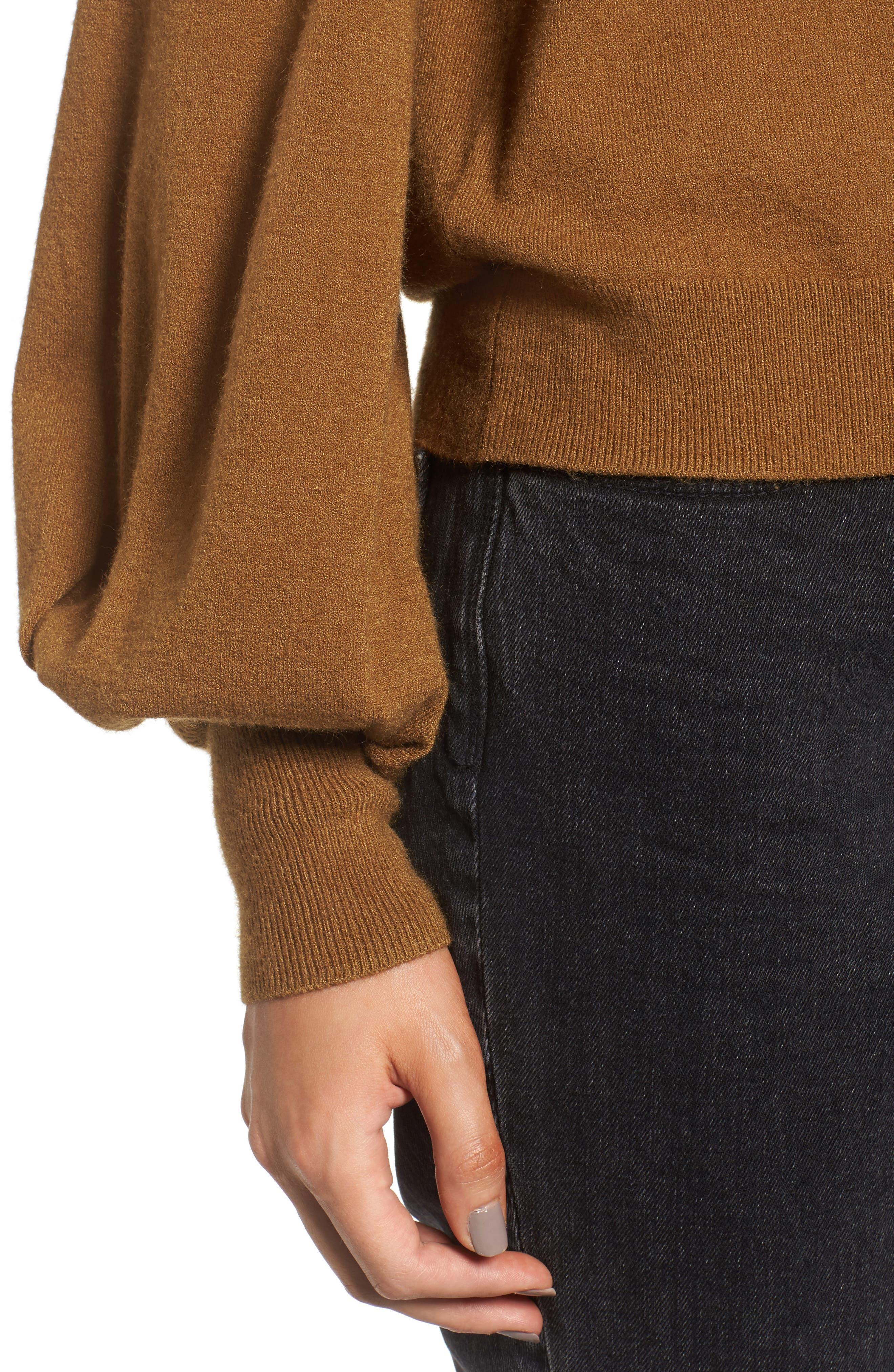 Alternate Image 5  - Treasure & Bond x Something Navy Off the Shoulder Sweater