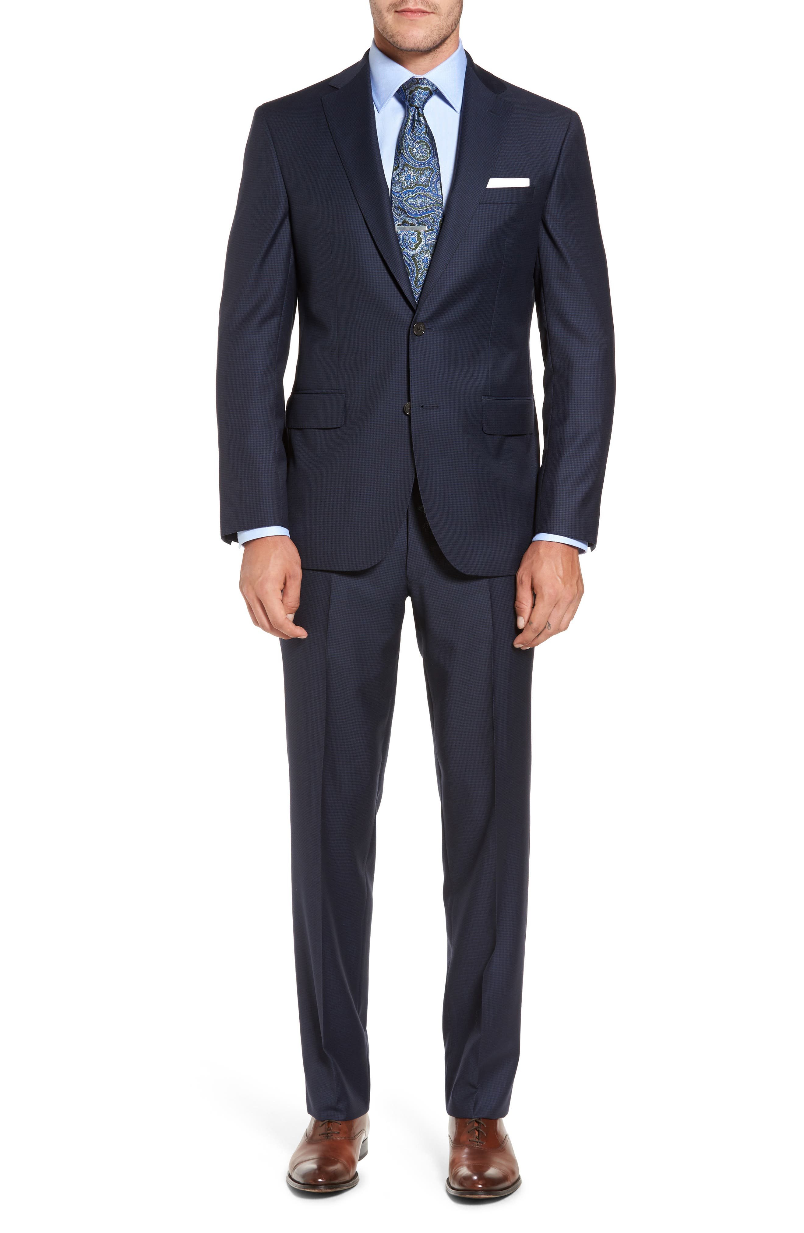 David Donahue Ryan Classic Fit Wool Suit