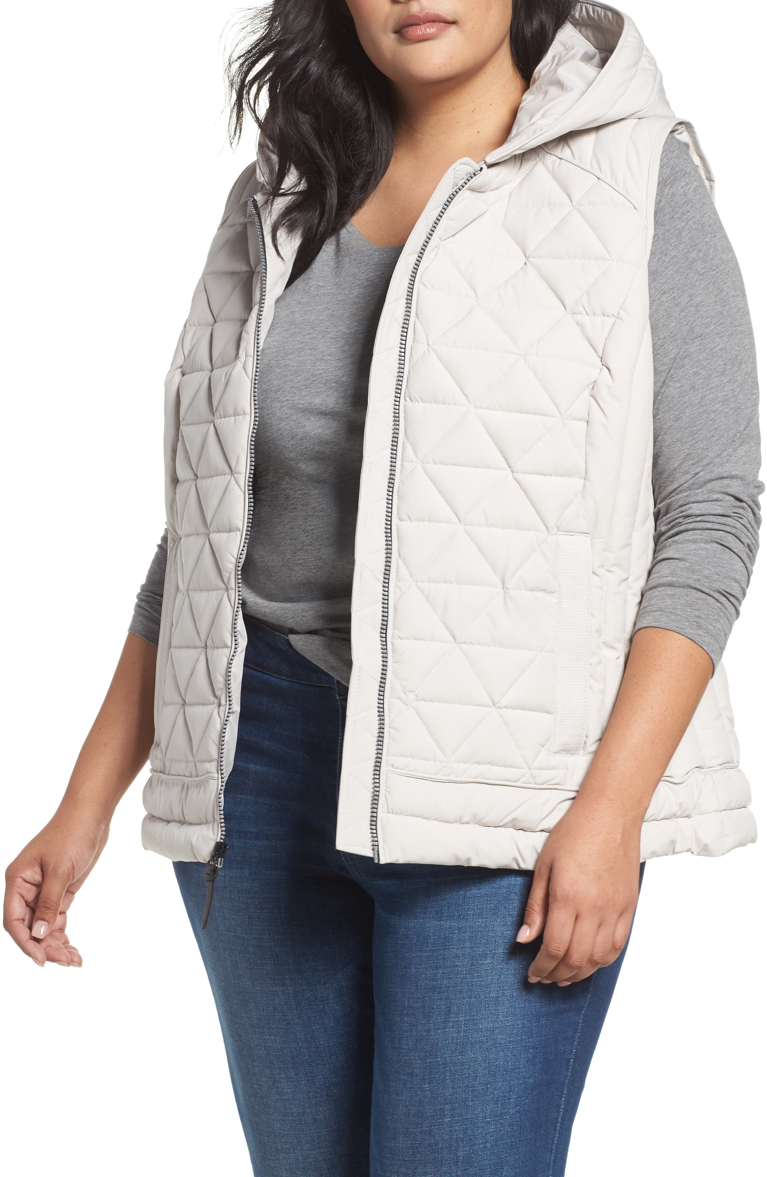 Alternate Image 1 Selected - Andrew Marc Sage Quilted Vest (Plus Size)