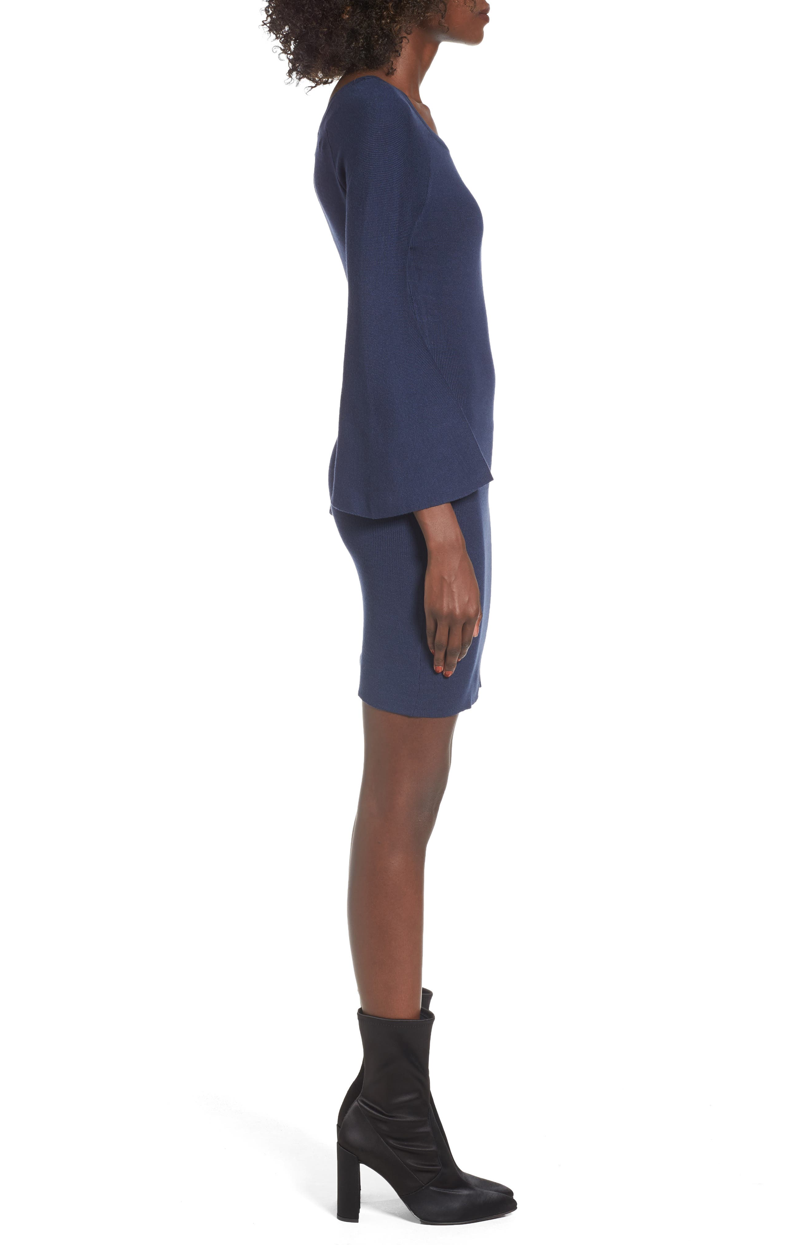Alternate Image 3  - J.O.A. Flare Sleeve Body-Con Dress