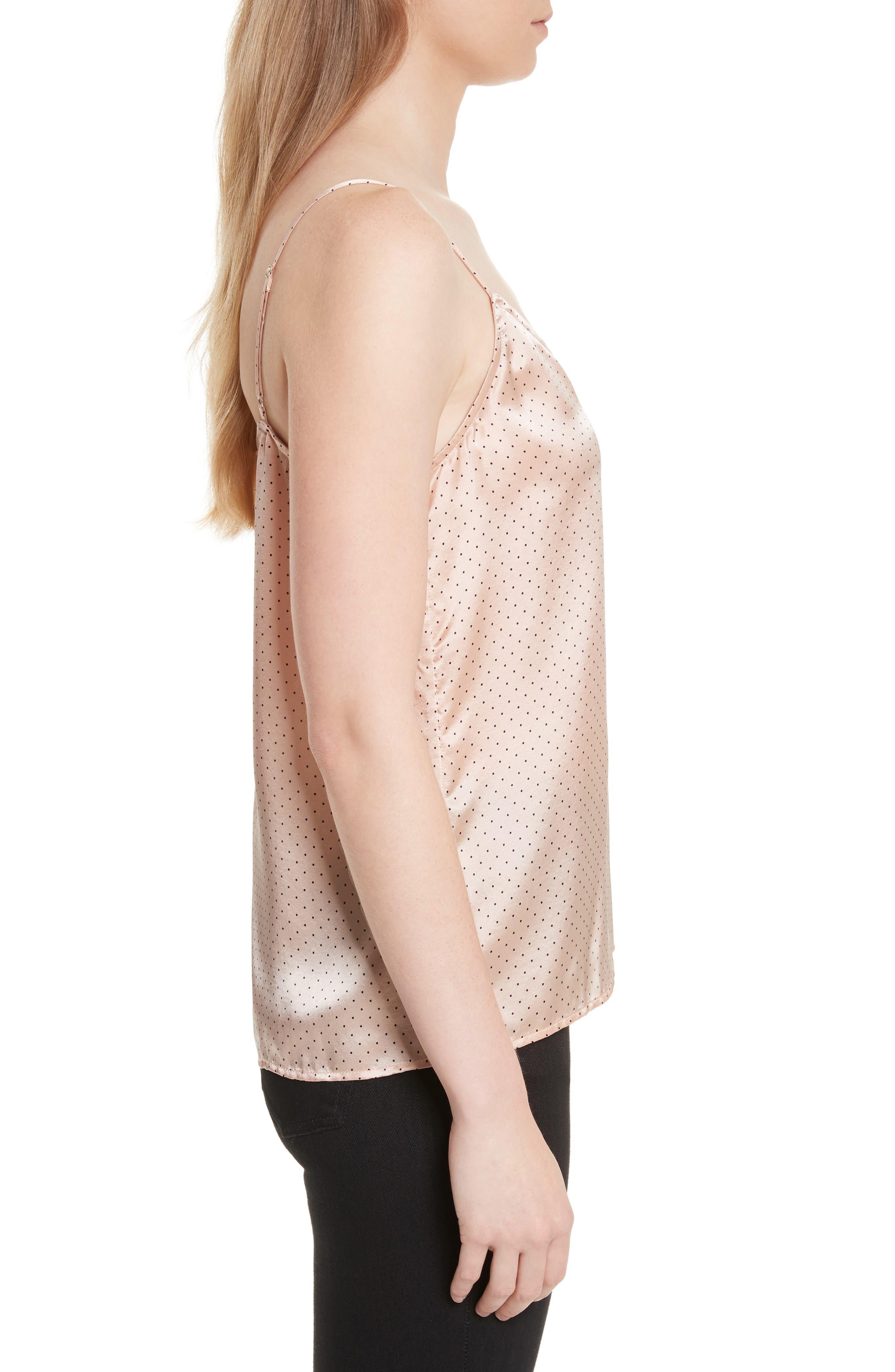 Alternate Image 3  - Equipment Layla Heart Print Silk Camisole