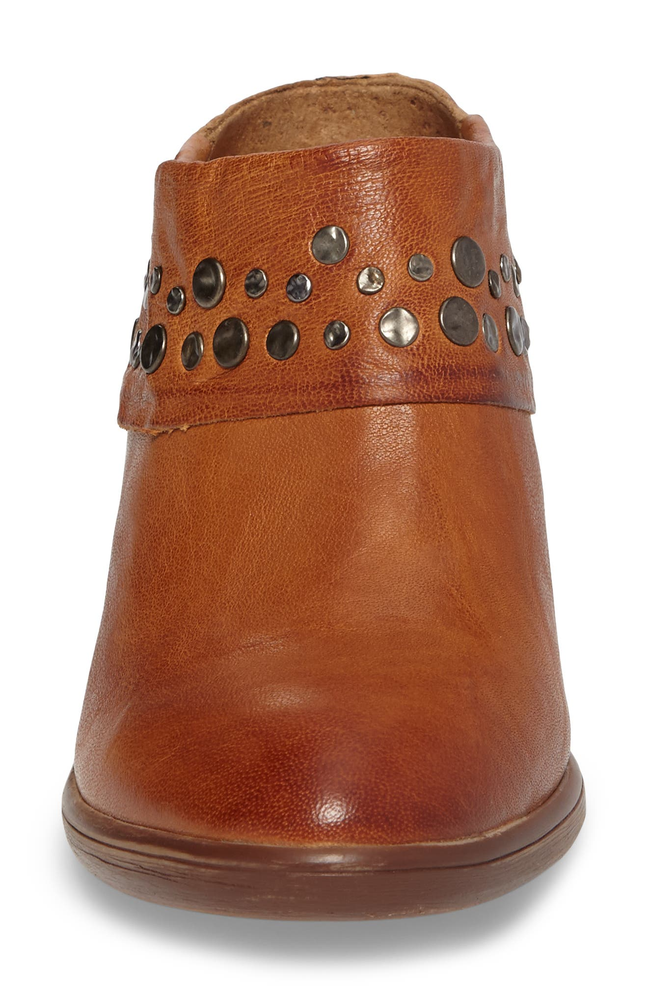 Gila Studded Mule,                             Alternate thumbnail 4, color,                             Luggage Leather