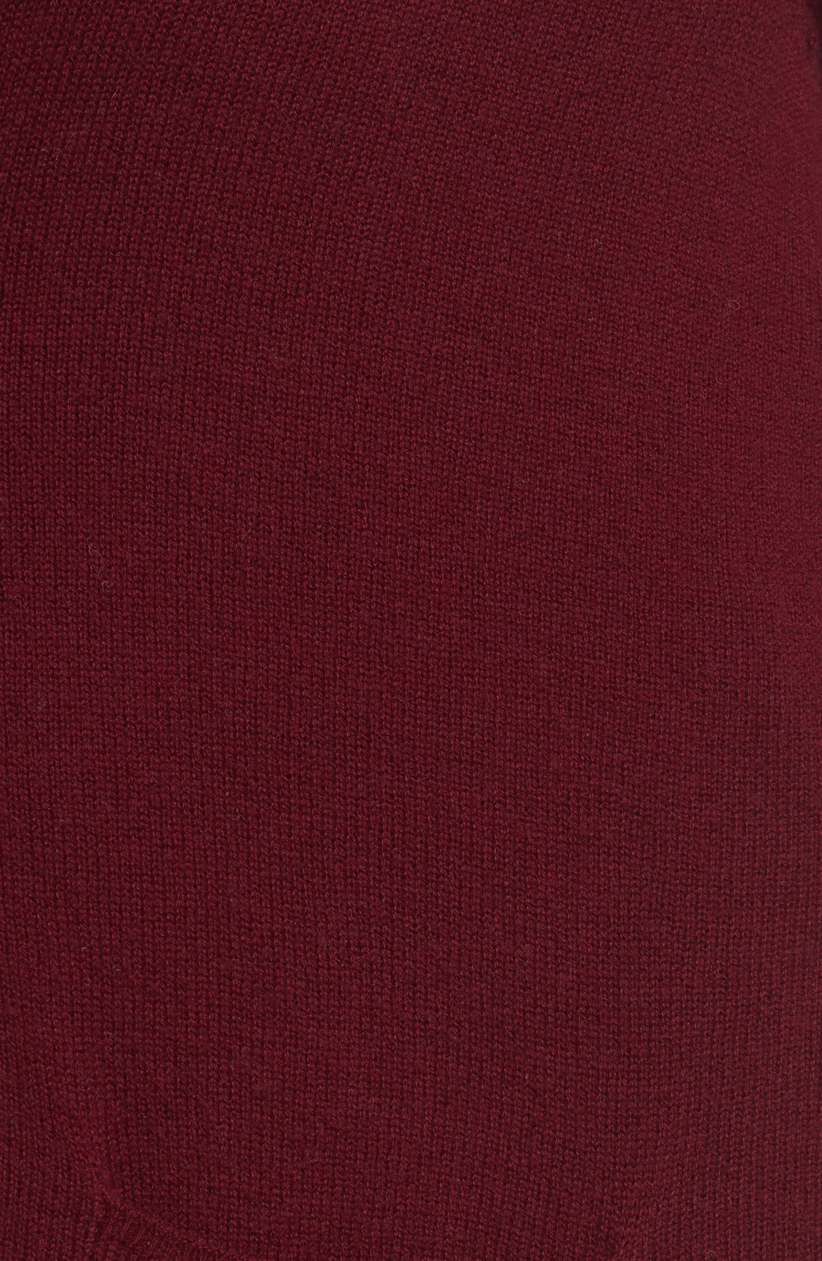 Pocket Cardigan,                             Alternate thumbnail 5, color,                             Burgundy Stem