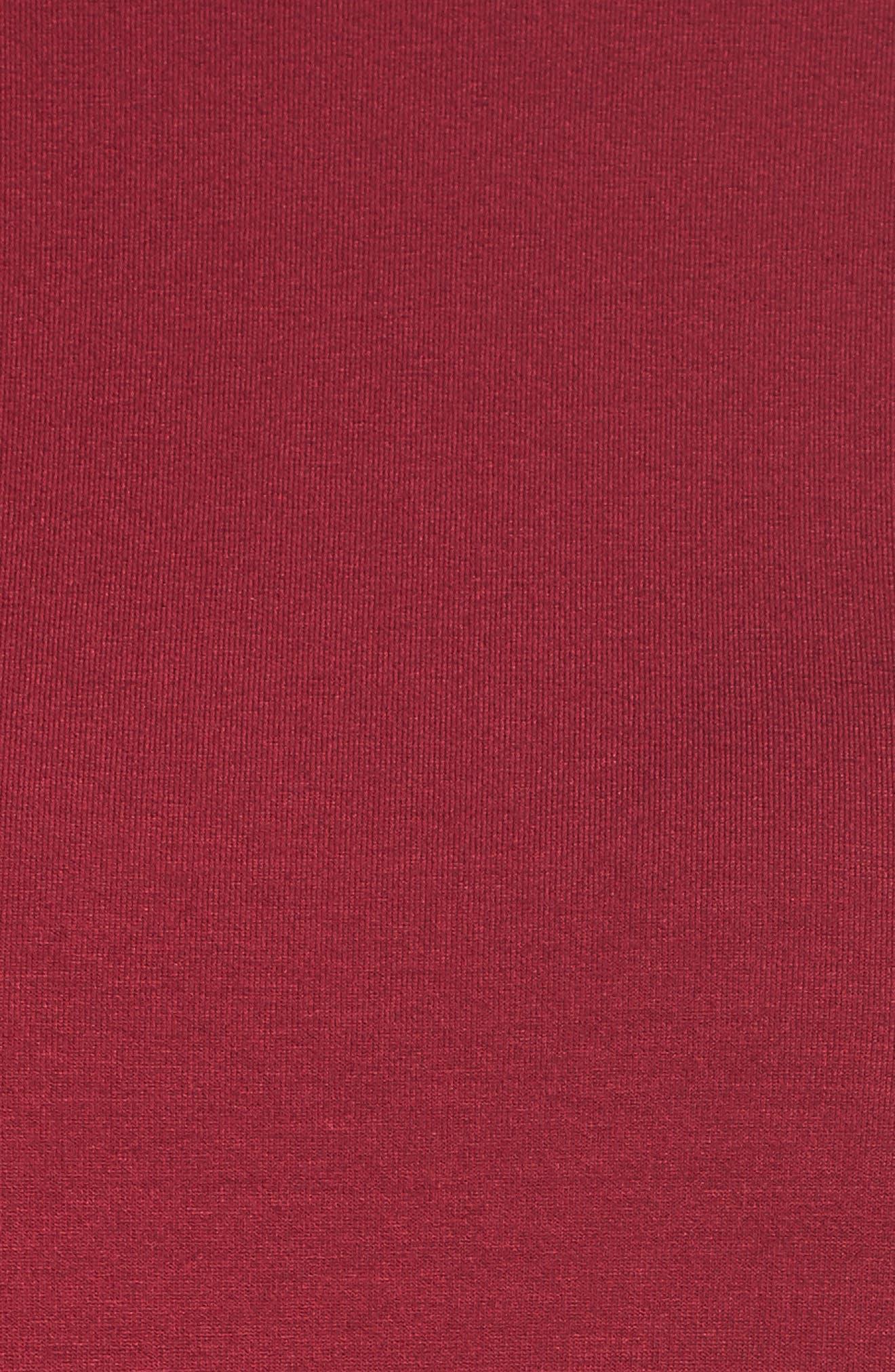Mock Neck Shift Dress,                             Alternate thumbnail 5, color,                             Hibiscus