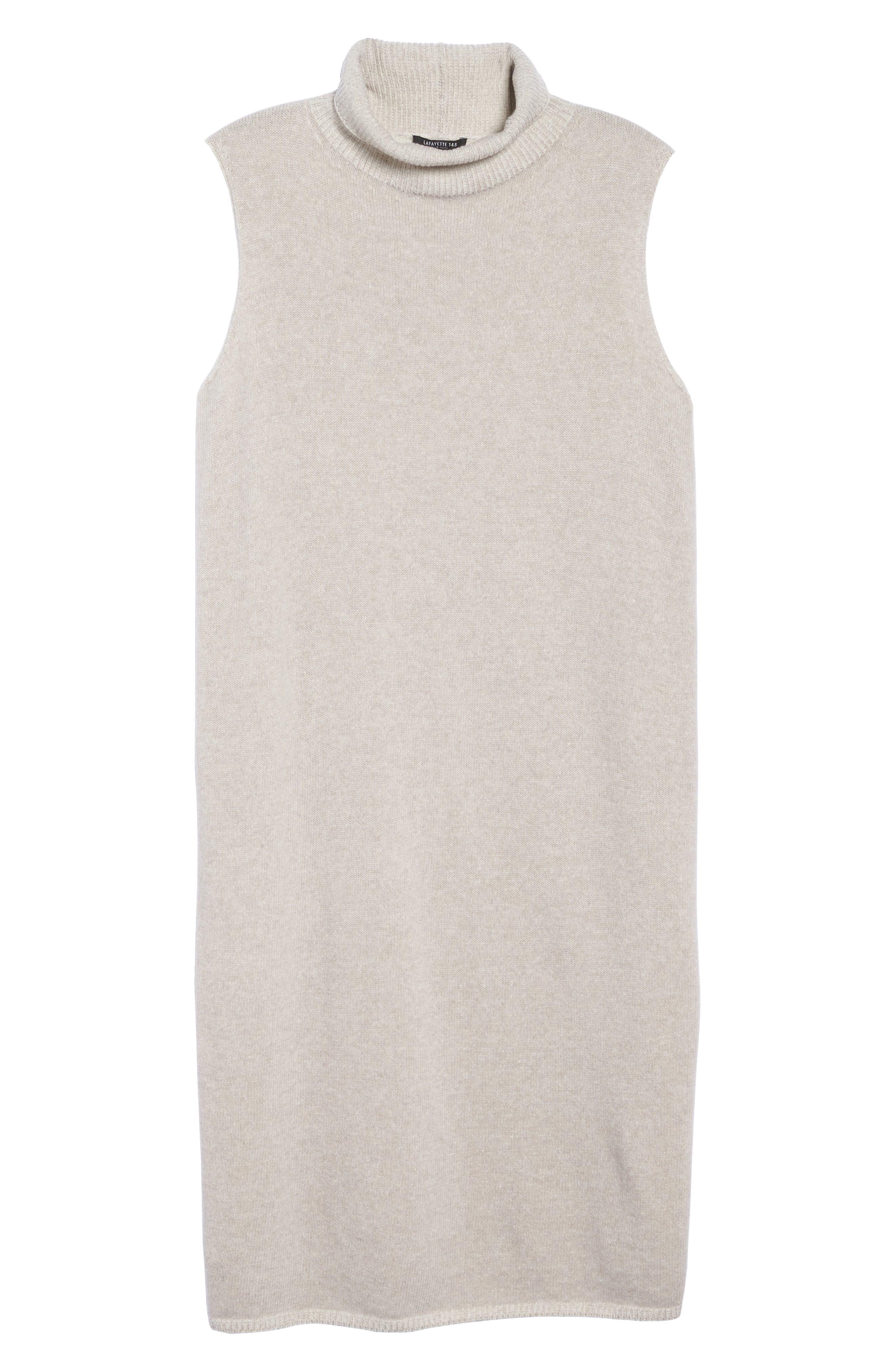 Alternate Image 6  - Lafayette 148 New York Vanise Merino Wool & Cashmere Sweater Dress (Plus Size)