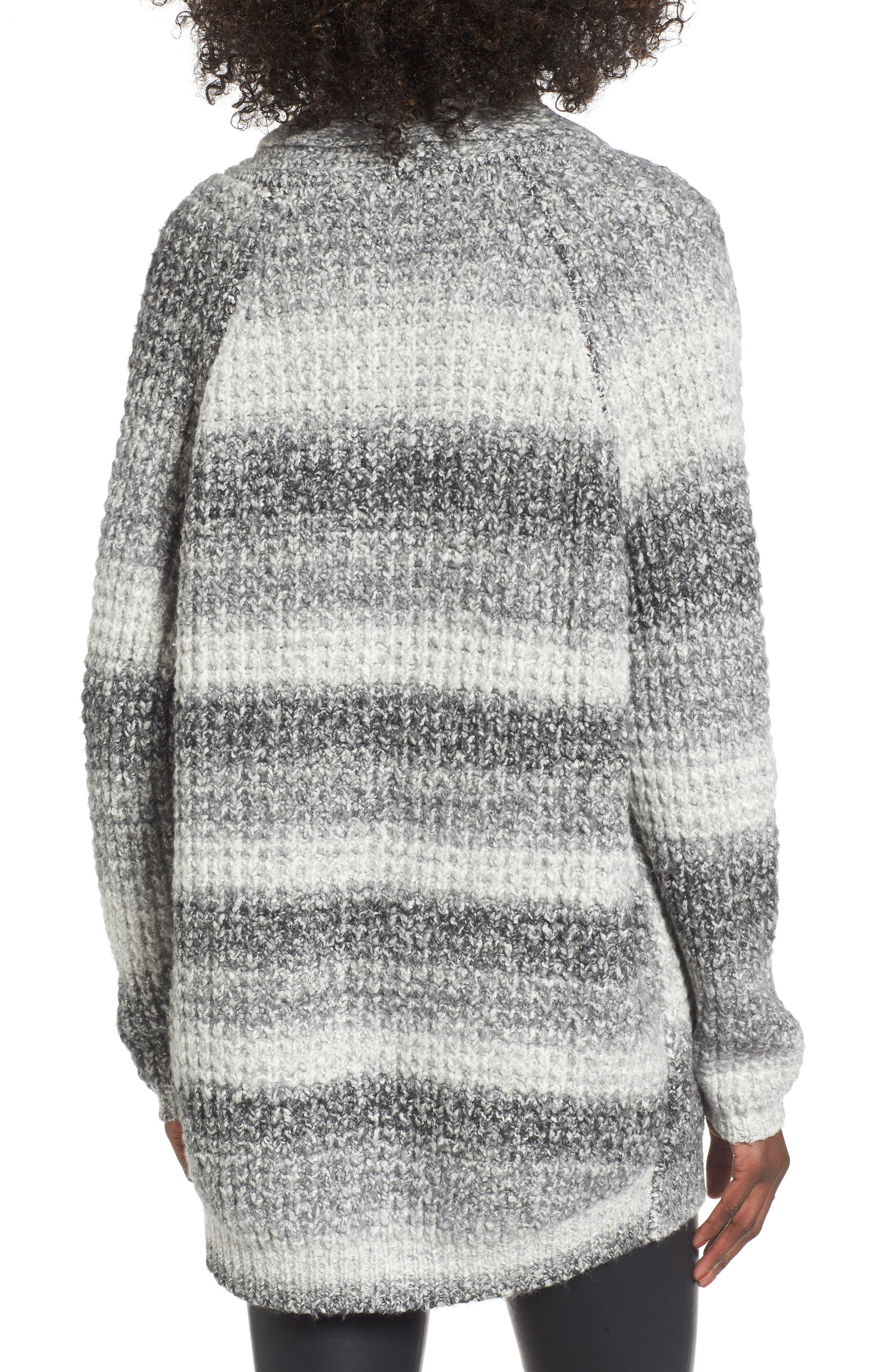 Ombré Cardigan,                             Alternate thumbnail 2, color,                             Grey Cloudy Ombre