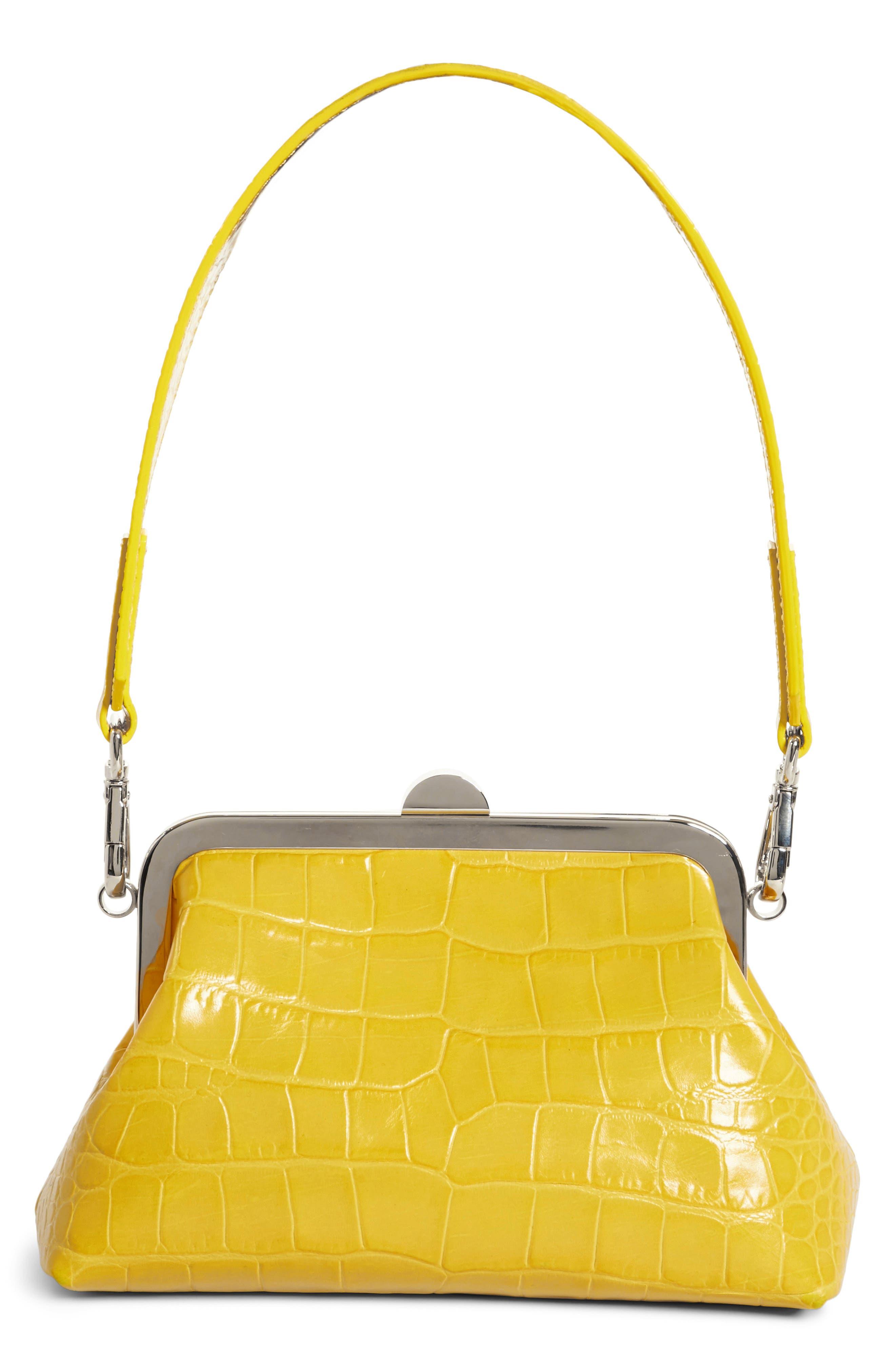 Marques'Almeida Croc Embossed Leather Handbag