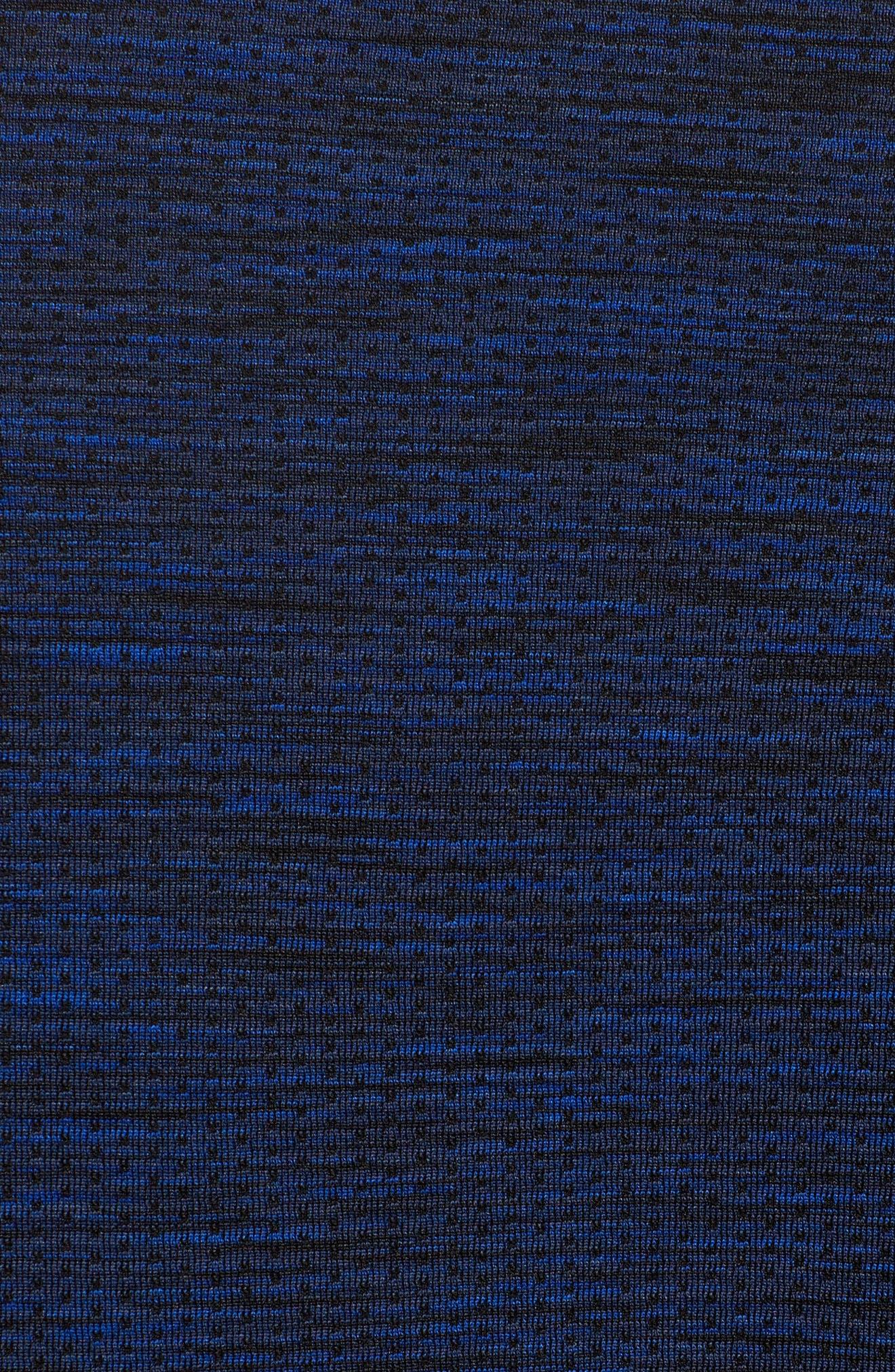 Threadborne Seamless Quarter Zip Pullover,                             Alternate thumbnail 5, color,                             Blue