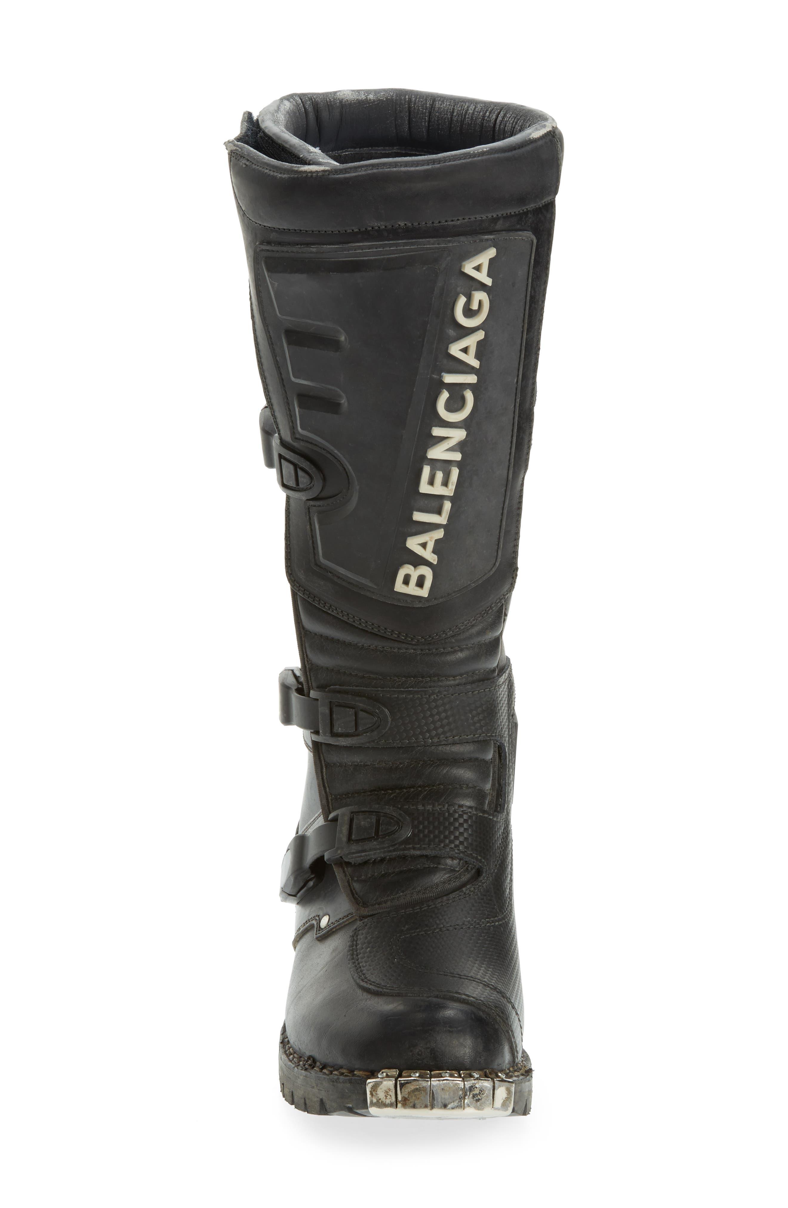 Alternate Image 4  - Balenciaga Moto Strapped Boot (Men)