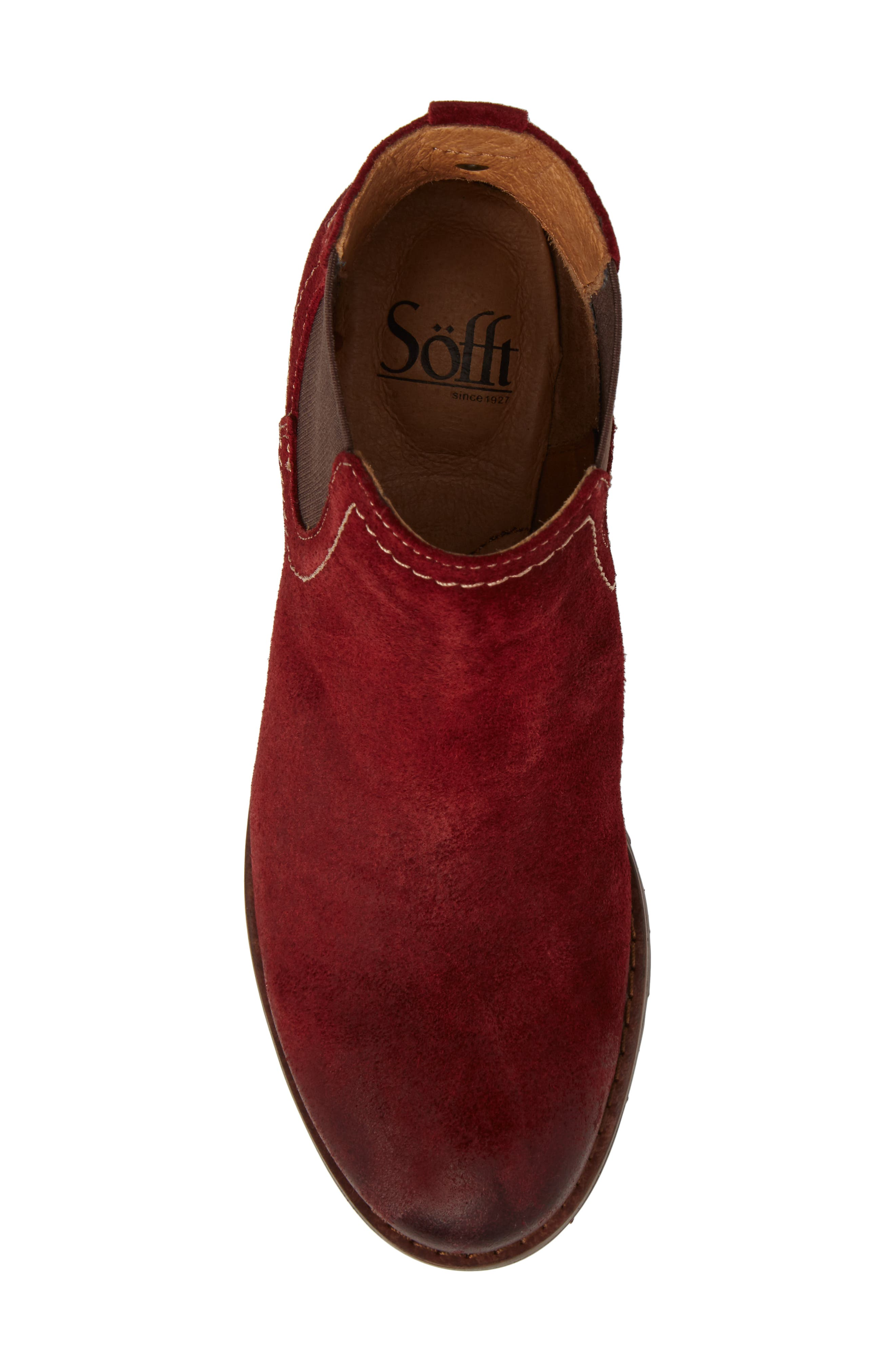 'Selby' Chelsea Bootie,                             Alternate thumbnail 5, color,                             Bordo Suede