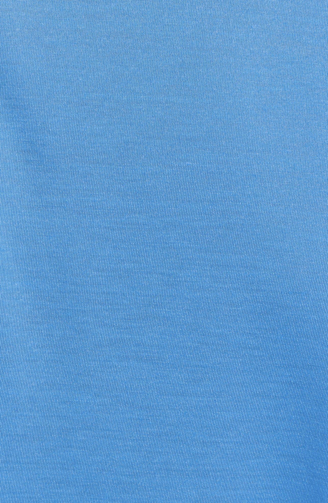 Threadborne Quarter-Zip Performance Shirt,                             Alternate thumbnail 5, color,                             Mako Blue / Graphite