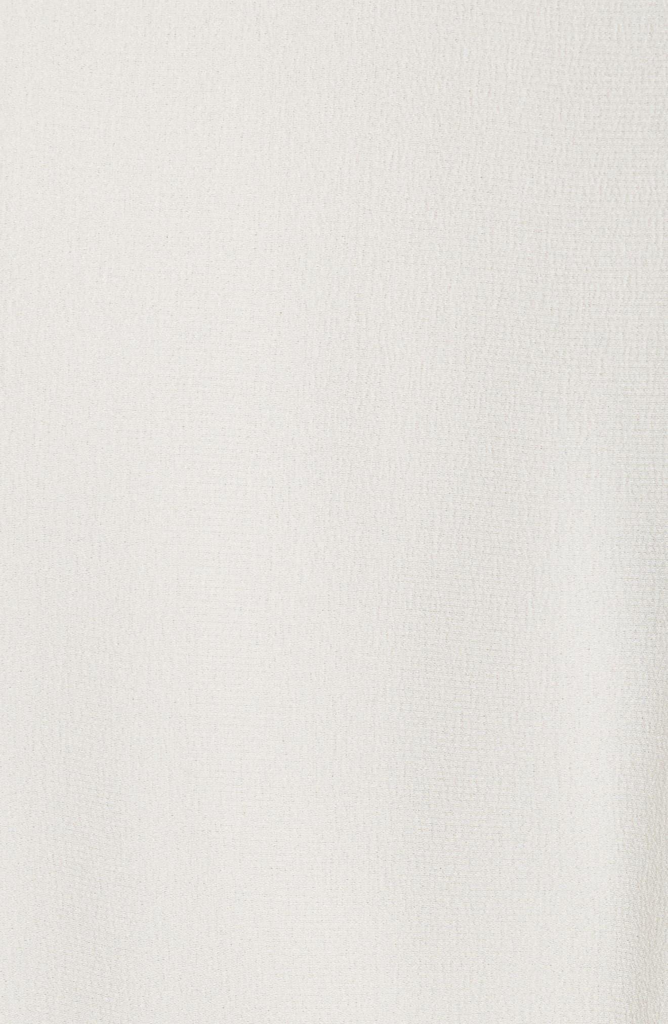 Slit Sleeve Silk Blouse,                             Alternate thumbnail 5, color,                             Antique White