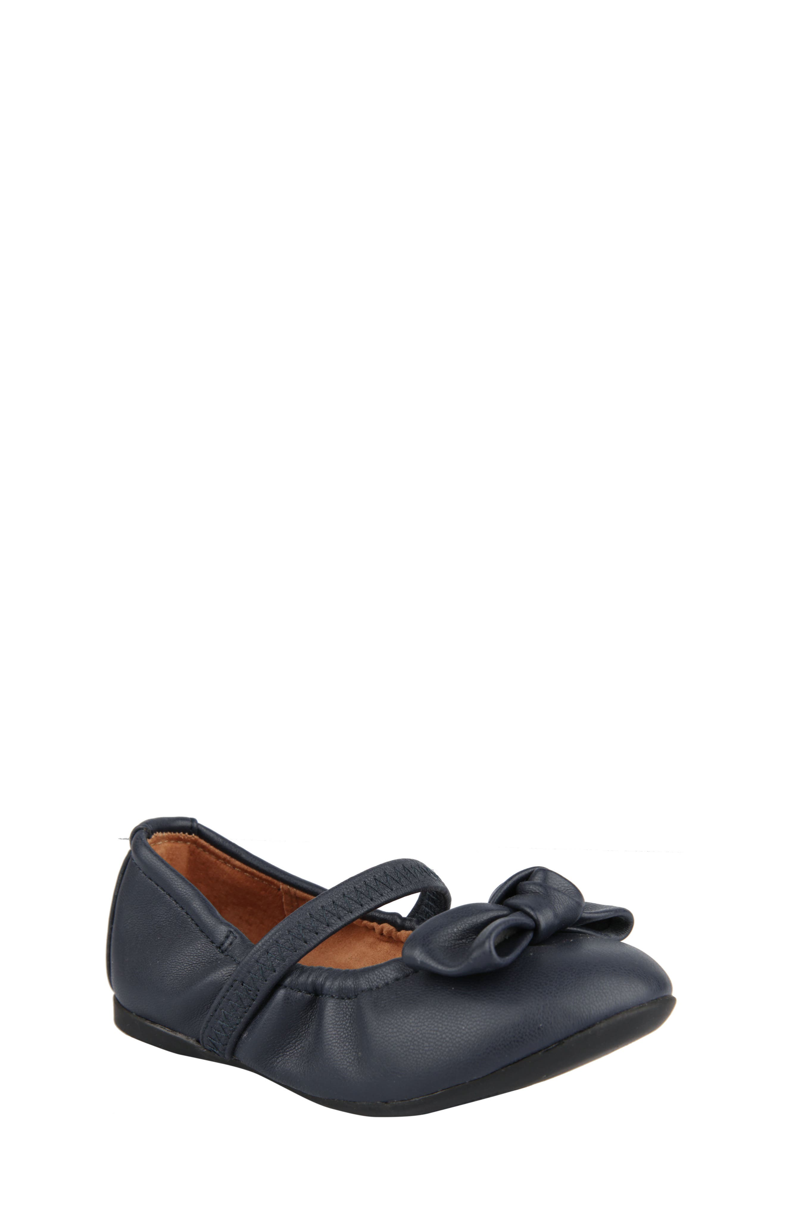 Karla Mary Jane Ballet Flat,                             Main thumbnail 1, color,                             Navy Faux Leather