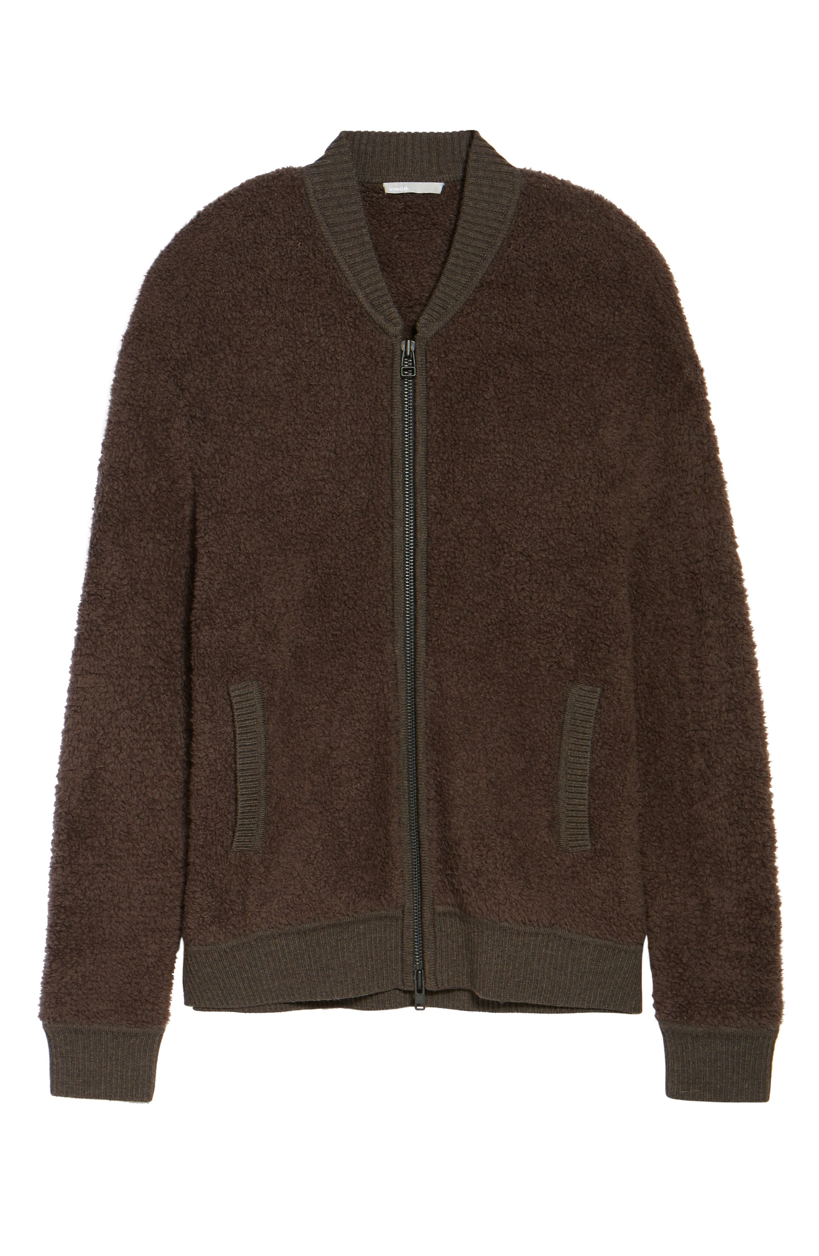 Alternate Image 5  - Vince Fleece Wool Blend Bomber Jacket