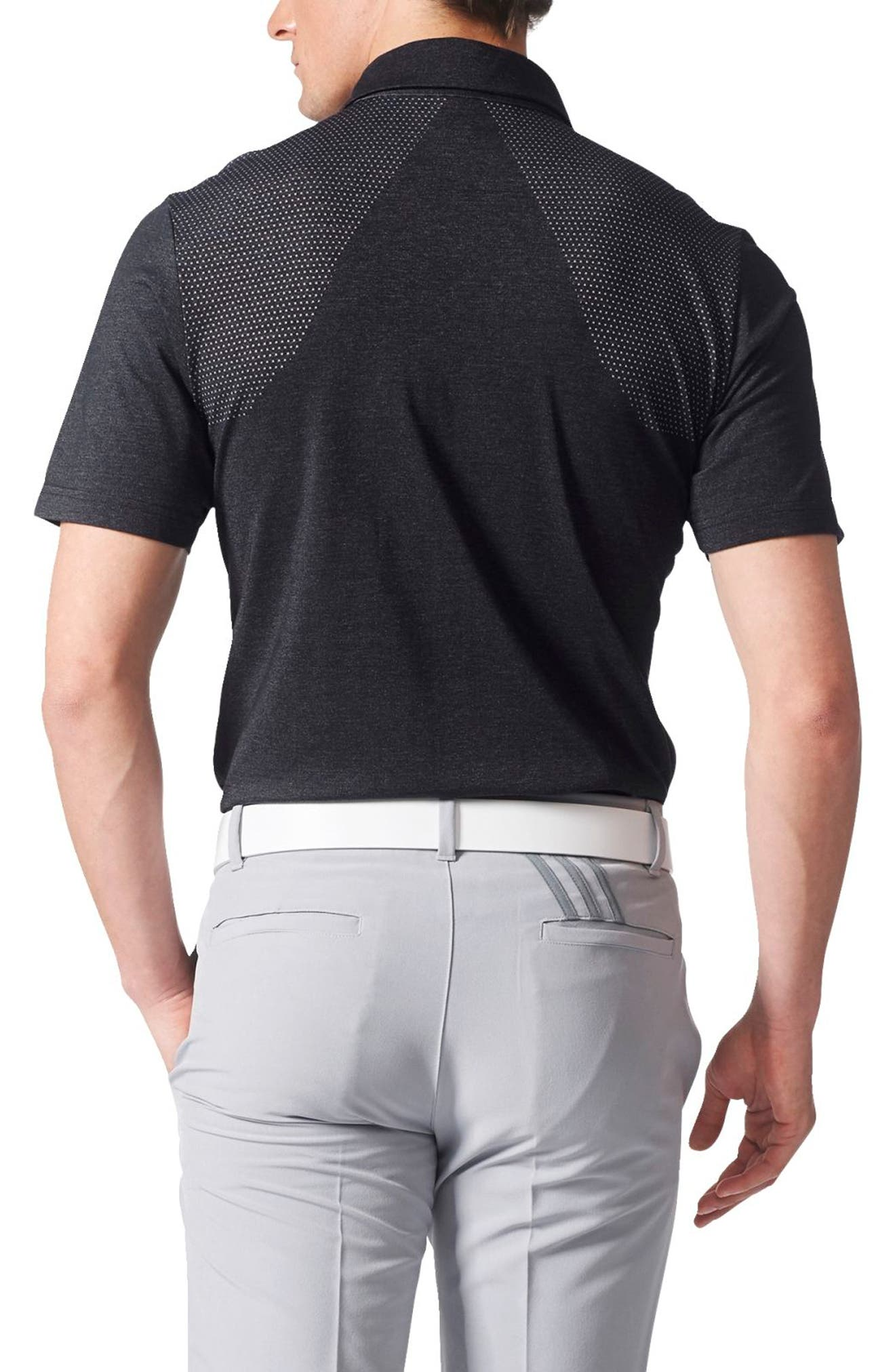 Climacool<sup>®</sup> 3-Stripes Mapped Polo,                             Alternate thumbnail 2, color,                             Black
