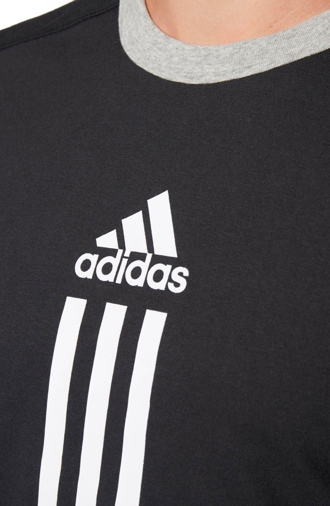 ID Long Sleeve Performance T-Shirt,                             Alternate thumbnail 3, color,                             Black/ Medium Grey Heather