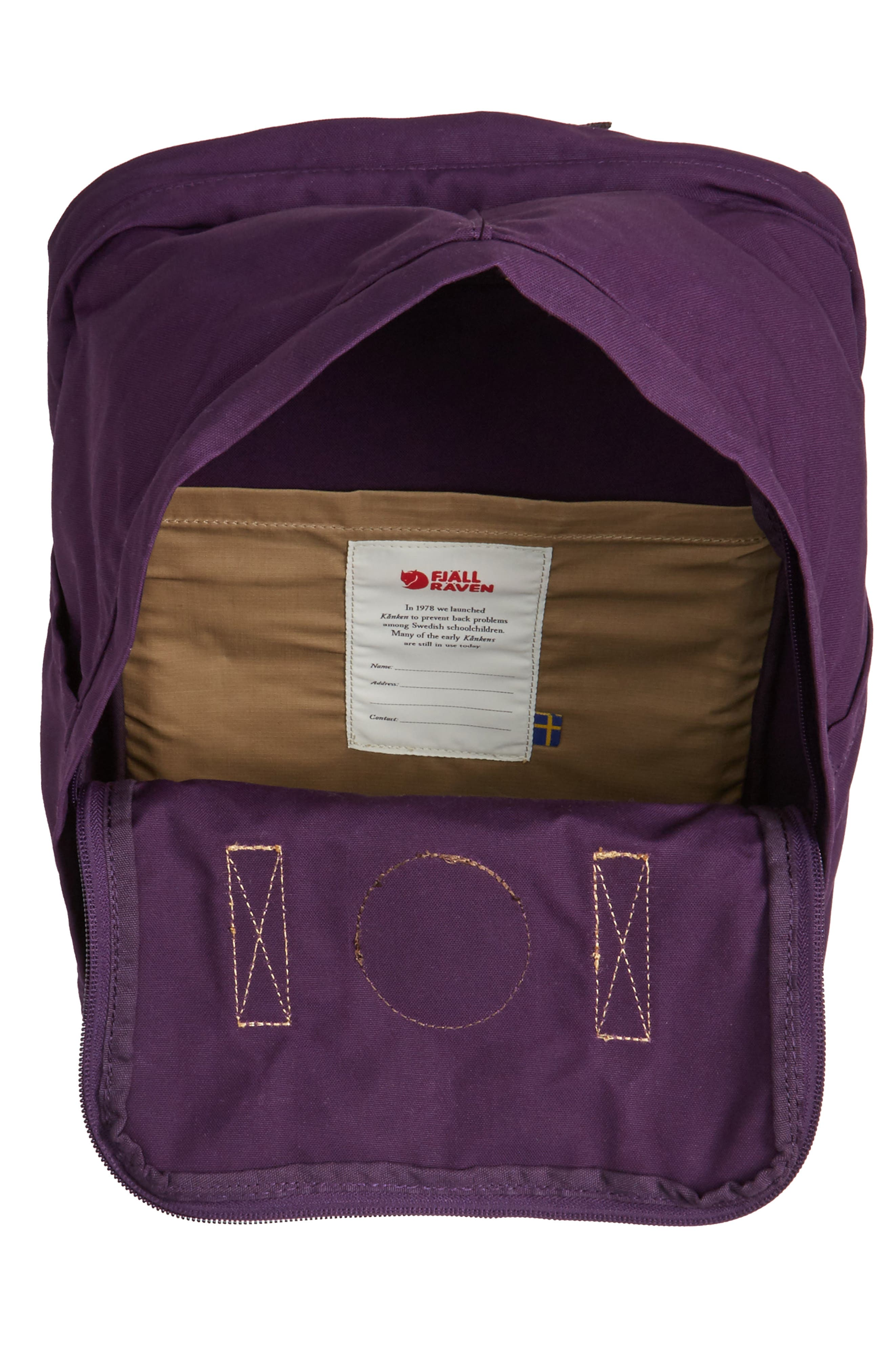 "Kånken No. 2 15"" Laptop Backpack,                             Alternate thumbnail 3, color,                             Alpine Purple"
