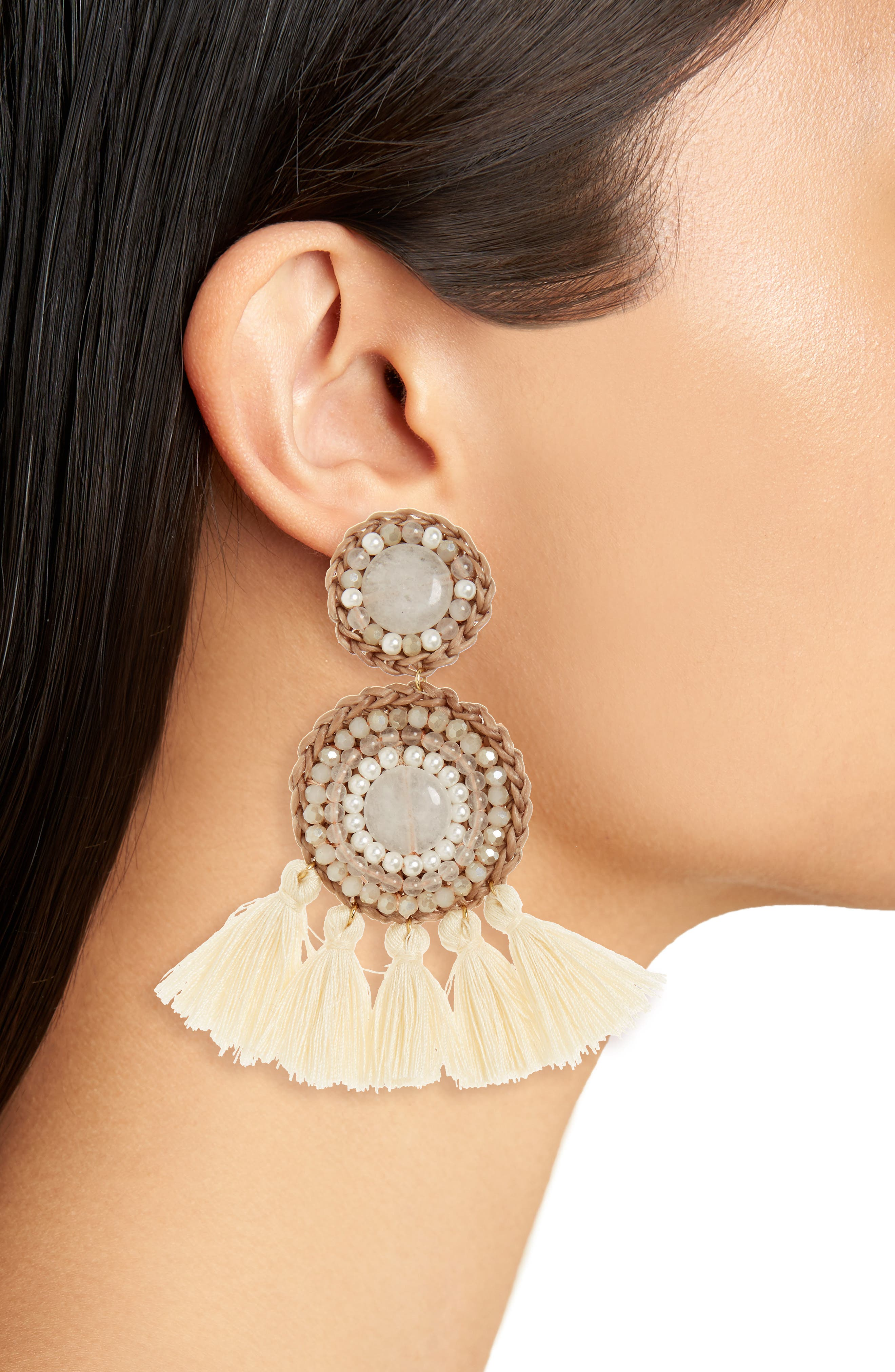 Alternate Image 2  - Panacea Tassel Drop Earrings