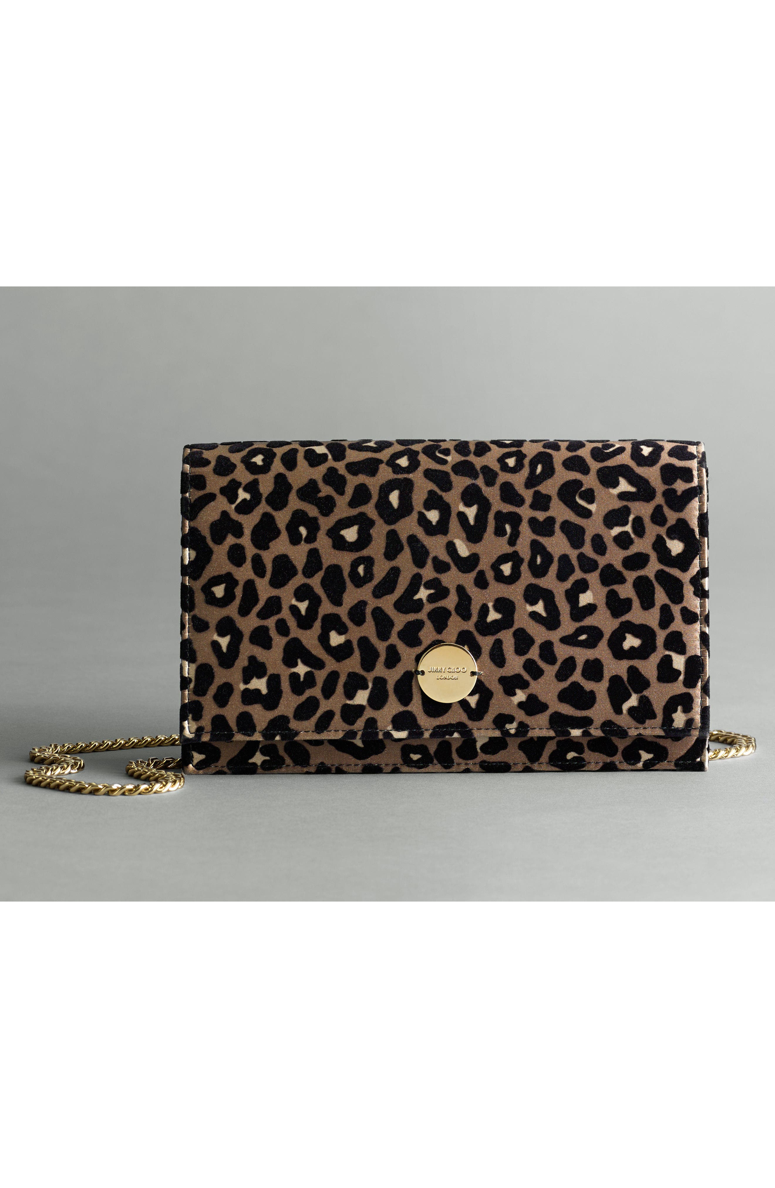 Florence Leopard Print Crossbody Bag,                             Alternate thumbnail 6, color,