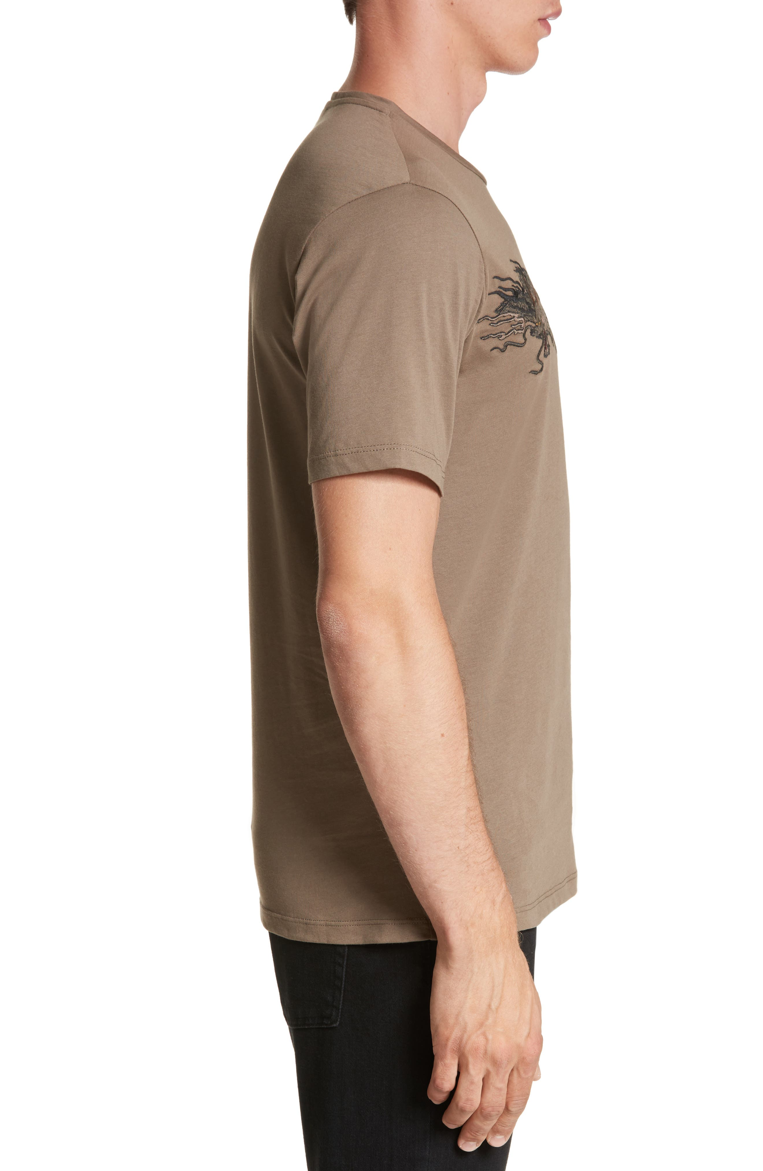 Embroidered Dragon T-Shirt,                             Alternate thumbnail 3, color,                             Light Brown