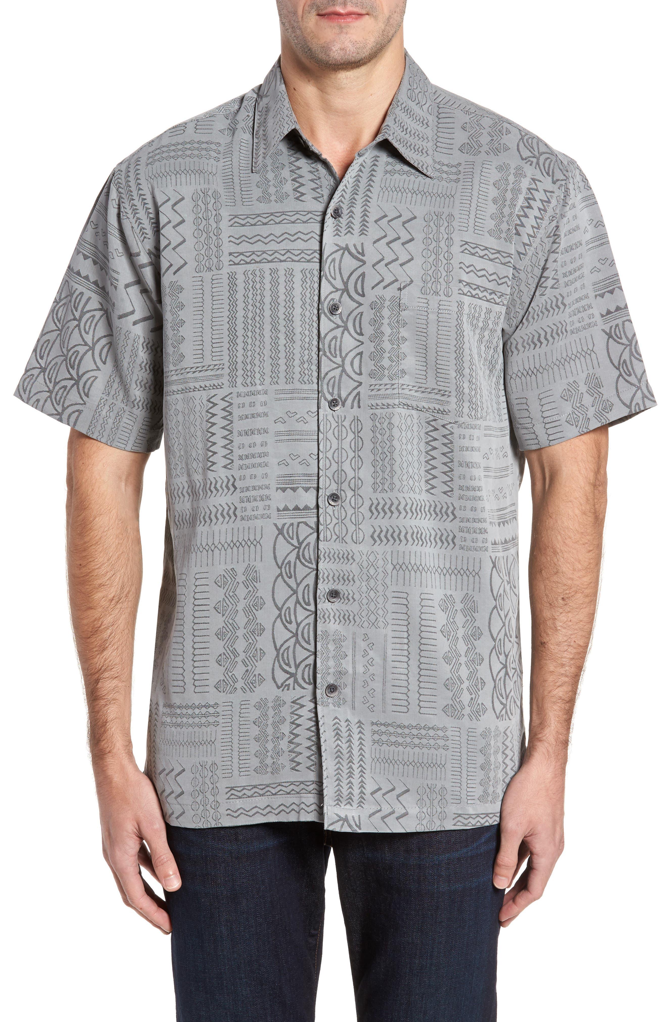 Kahala Kapa Cloth Regular Fit Print Camp Shirt