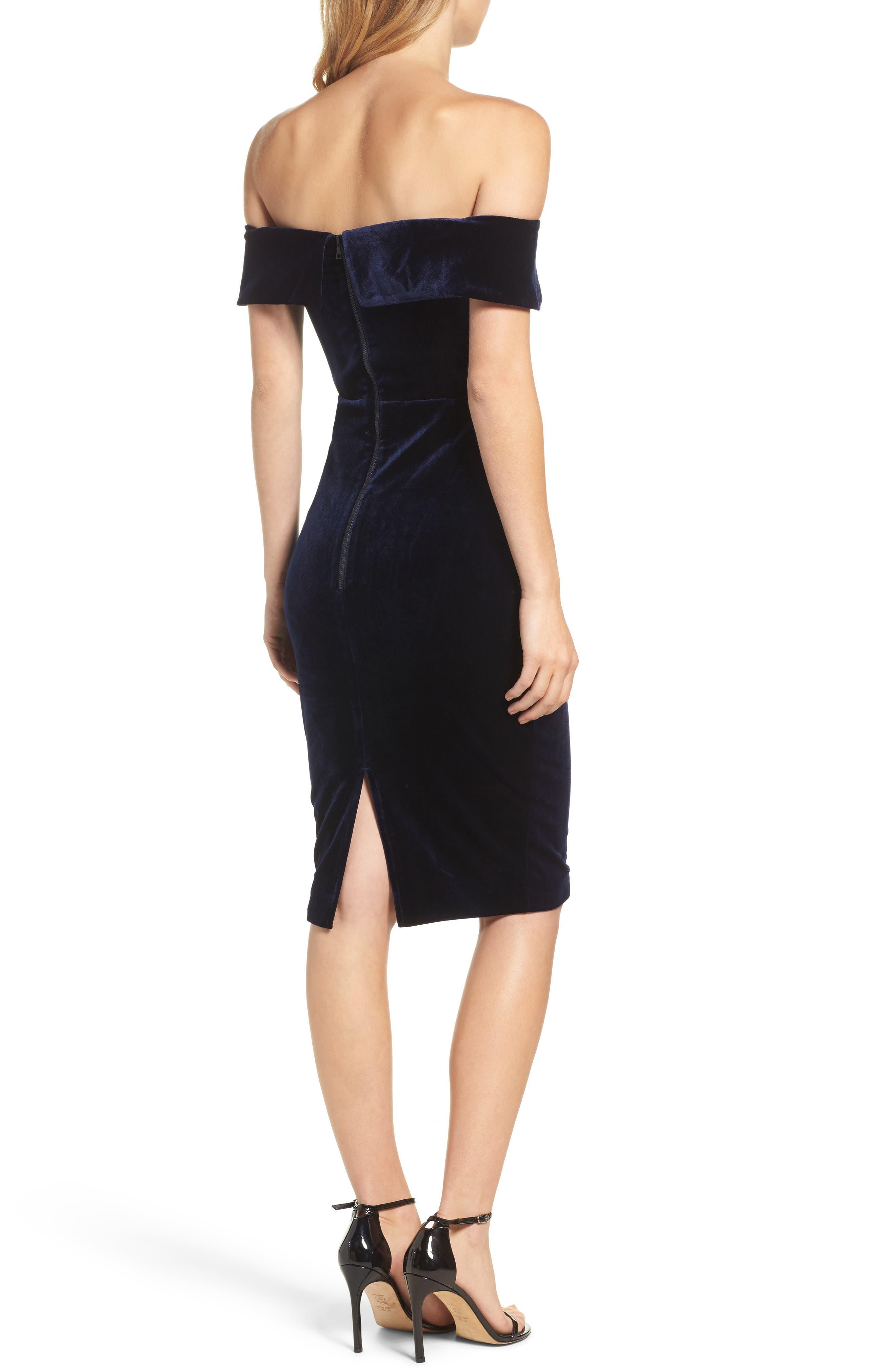 Alternate Image 2  - Bardot Bella Velvet Off the Shoulder Dress