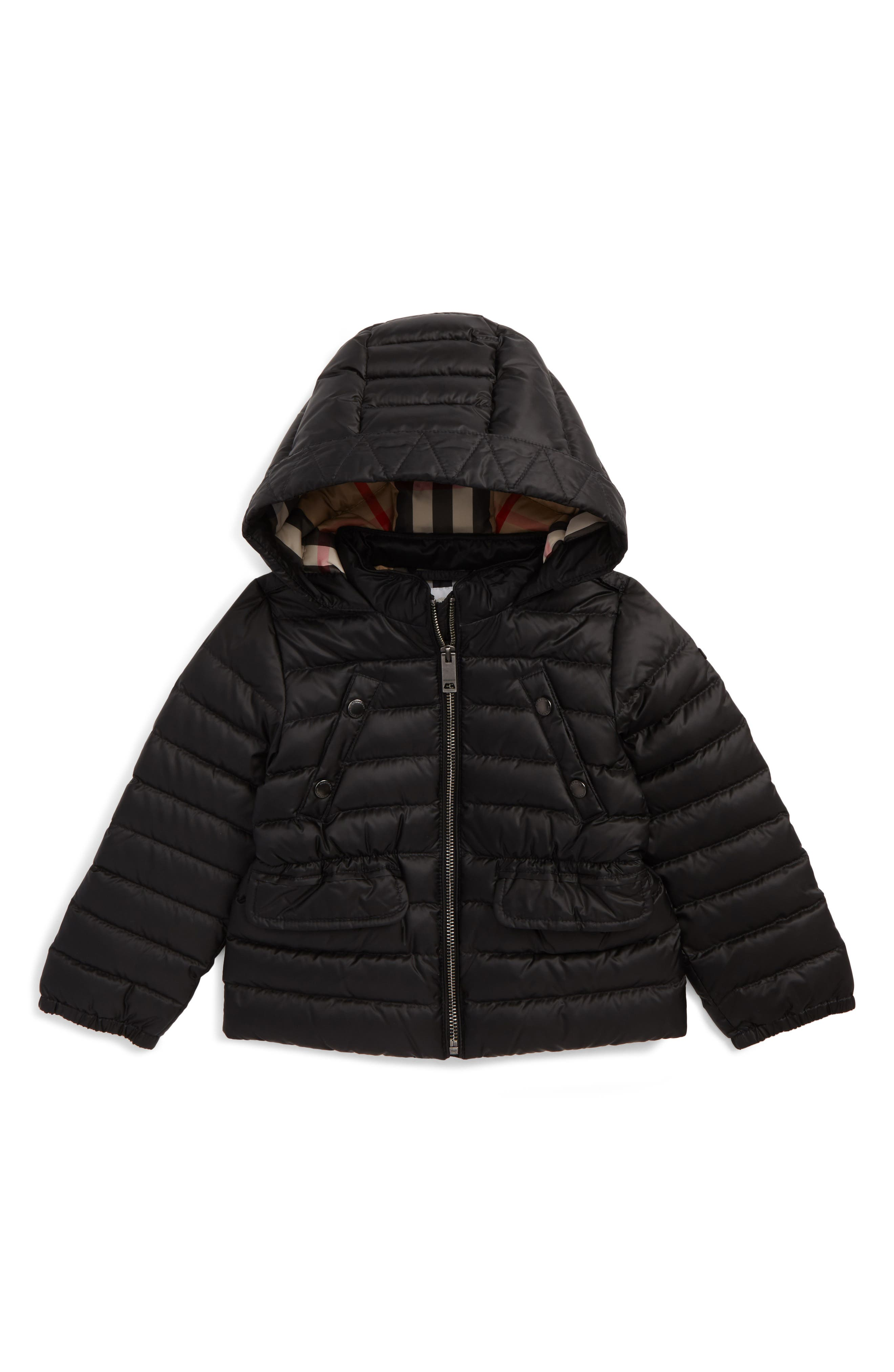 Mini Bronwyn Quilted Down Jacket,                         Main,                         color, Black