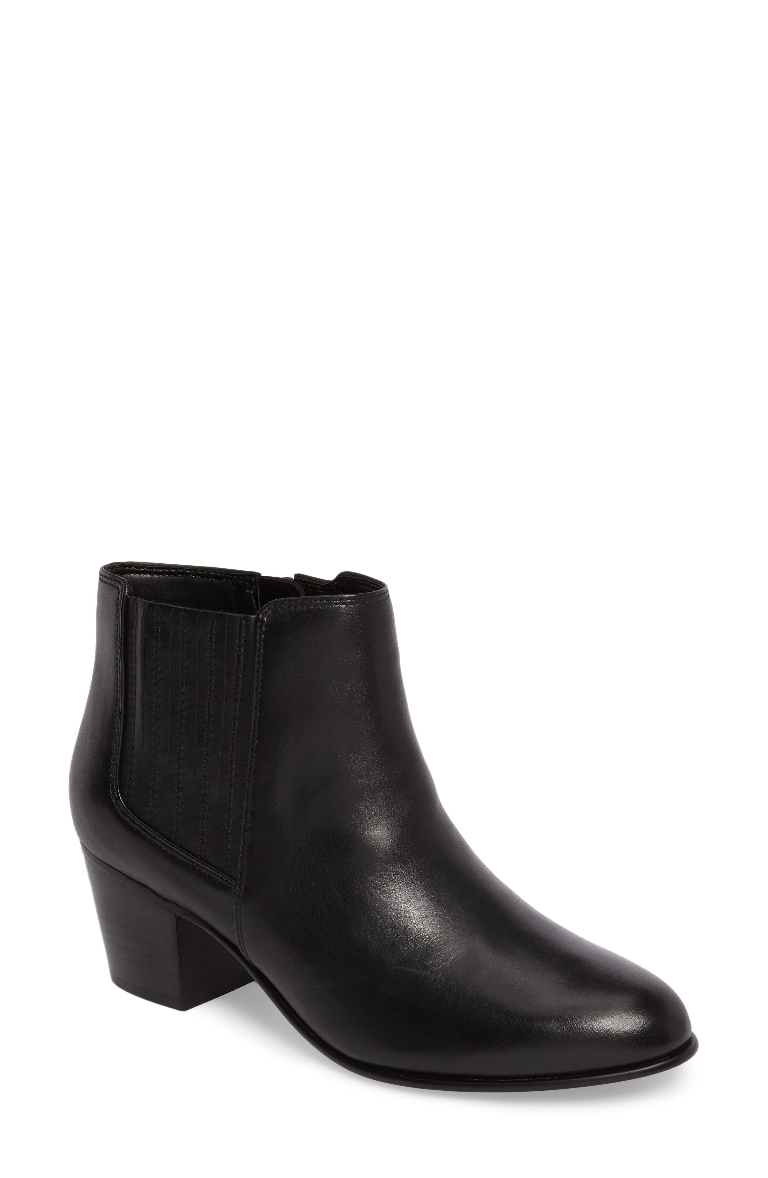 Maypearl Tulsa Bootie,                         Main,                         color, Black Leather